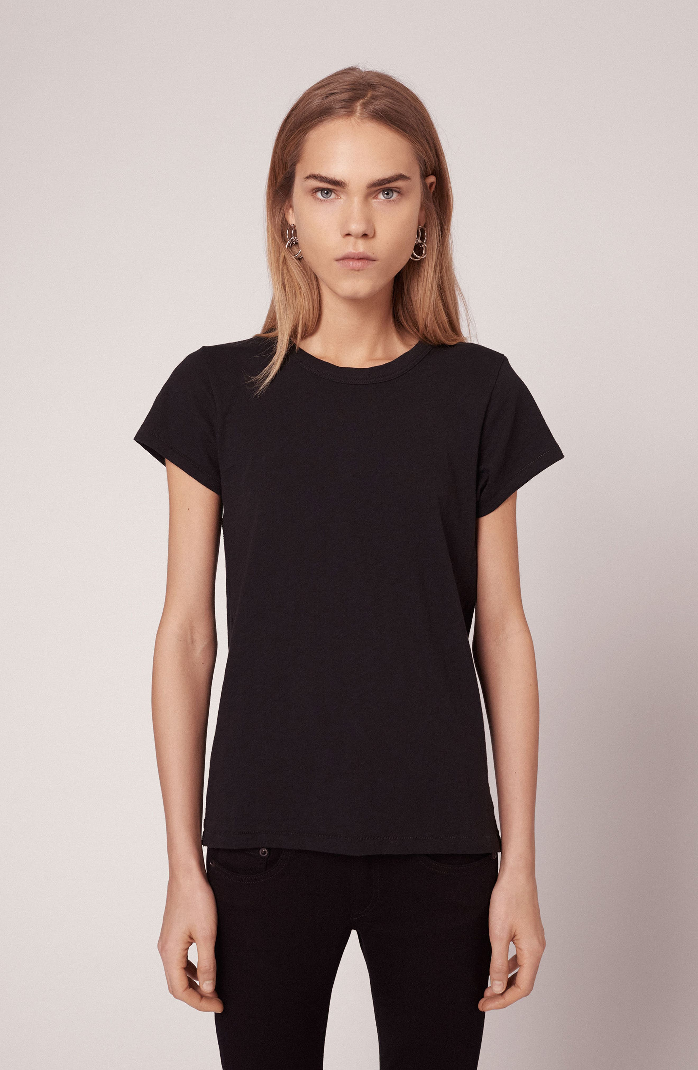rag & bone The Tee,                             Alternate thumbnail 7, color,                             001