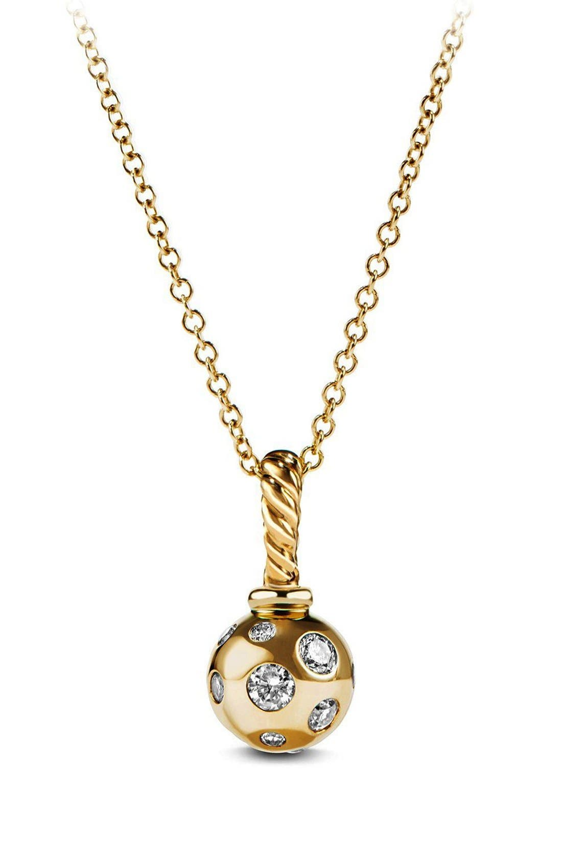 Pendant with Diamonds in 18K Gold,                         Main,                         color, GOLD