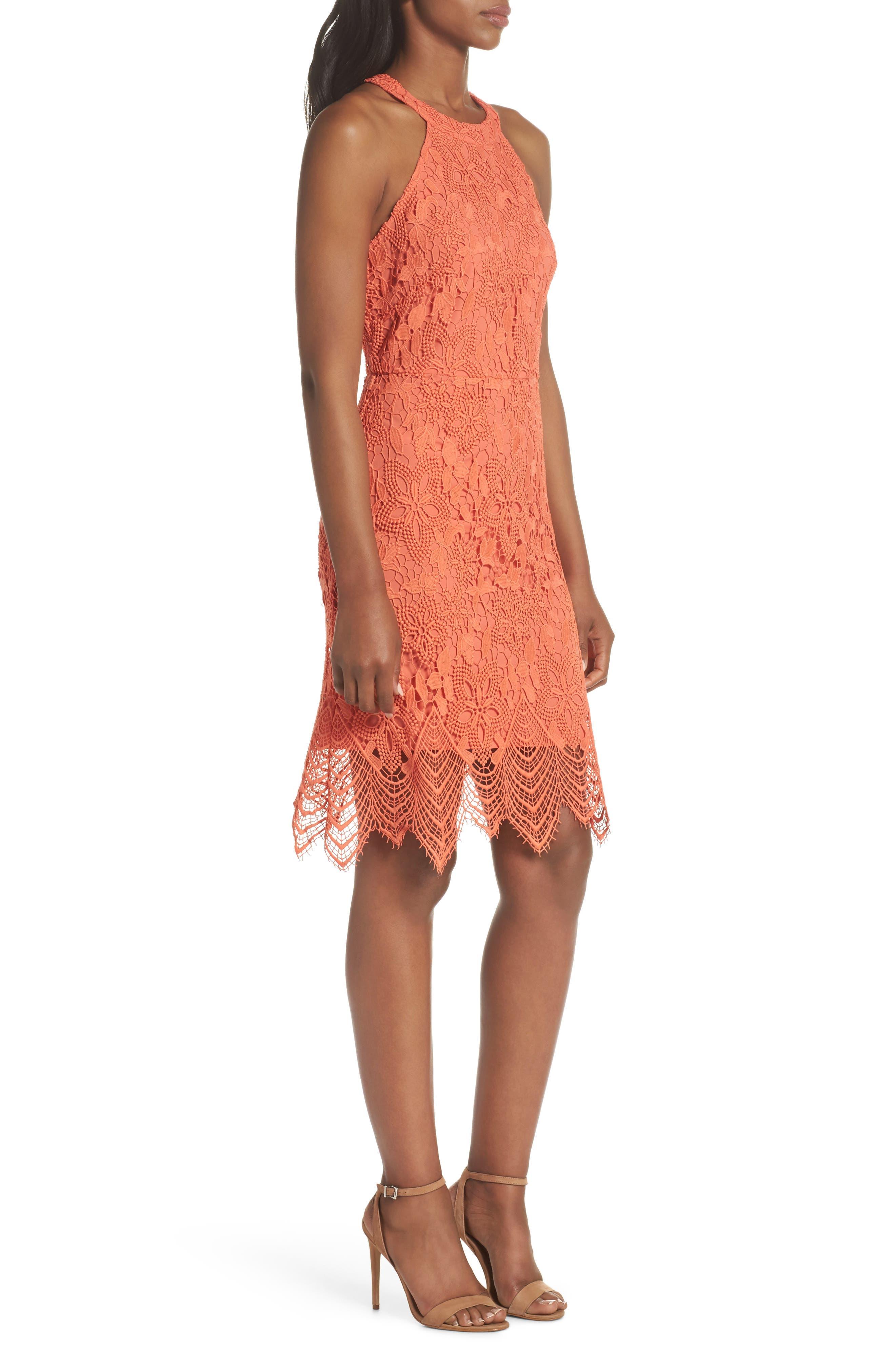 Isla Lace Halter Dress,                             Alternate thumbnail 6, color,