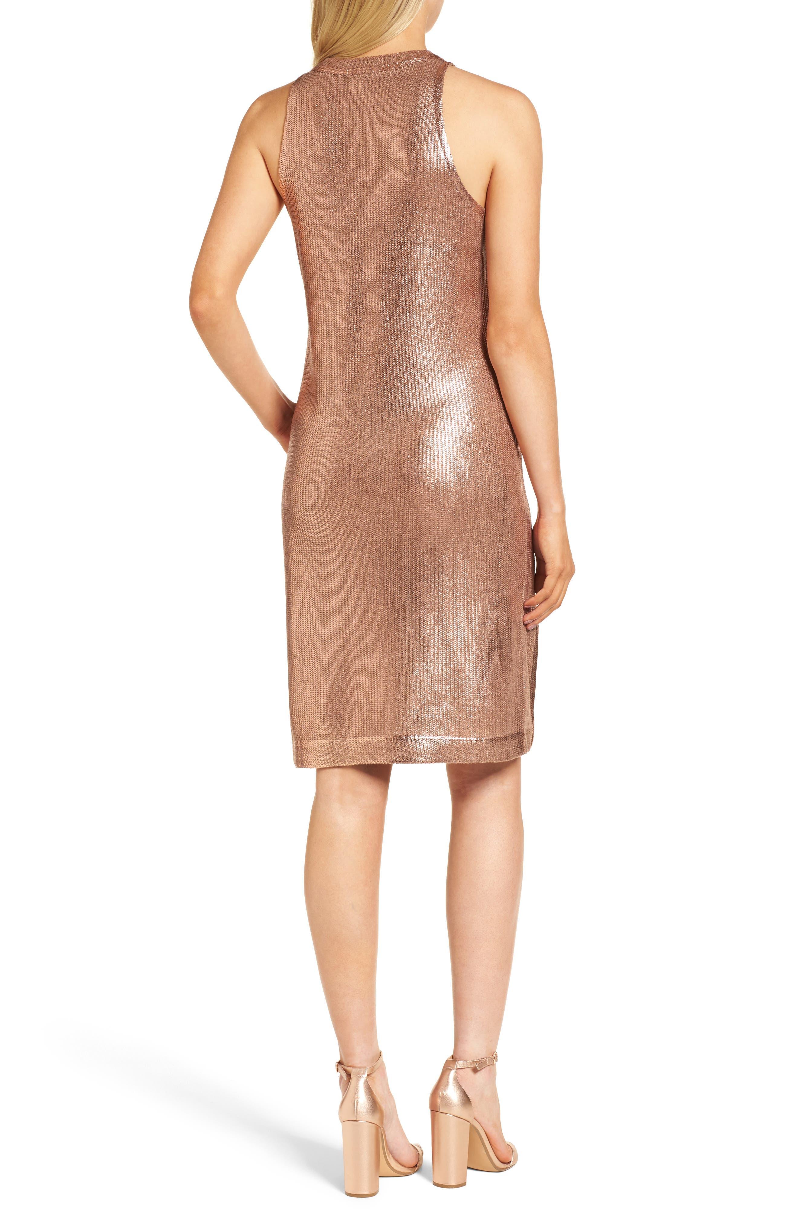 Metallic Coated Dress,                             Alternate thumbnail 4, color,
