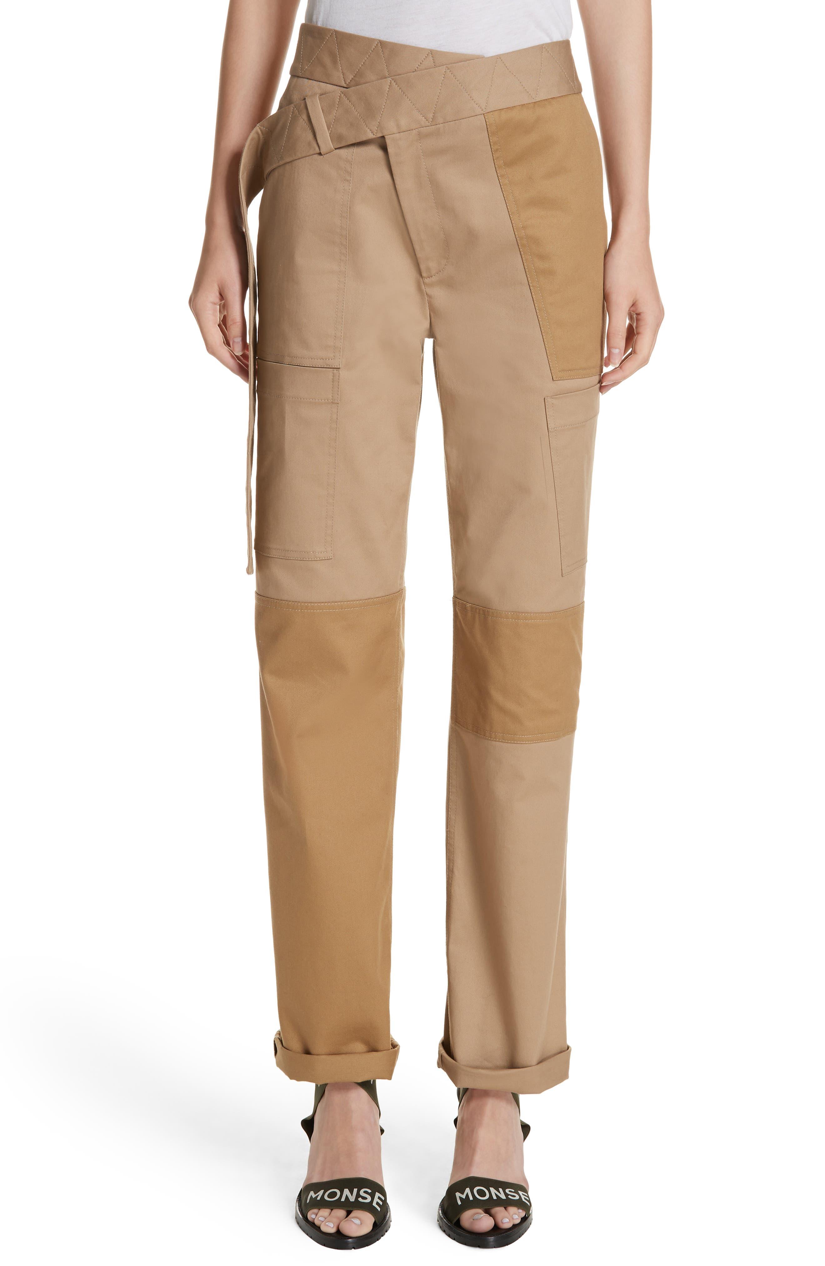 Monse Straight Leg Cargo Pants, Blue