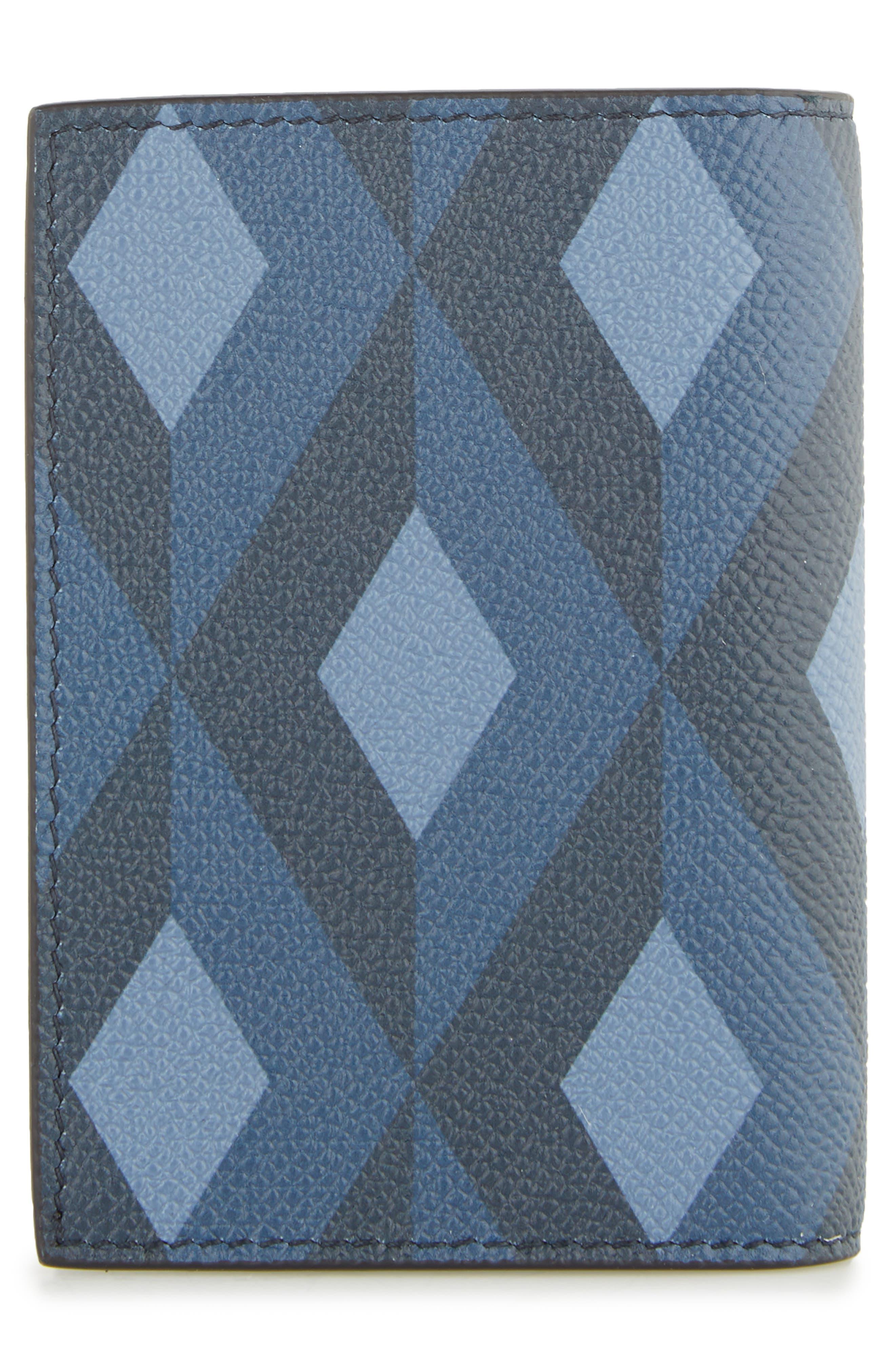 Cadogan Leather Business Card Case,                             Alternate thumbnail 3, color,                             BLUE
