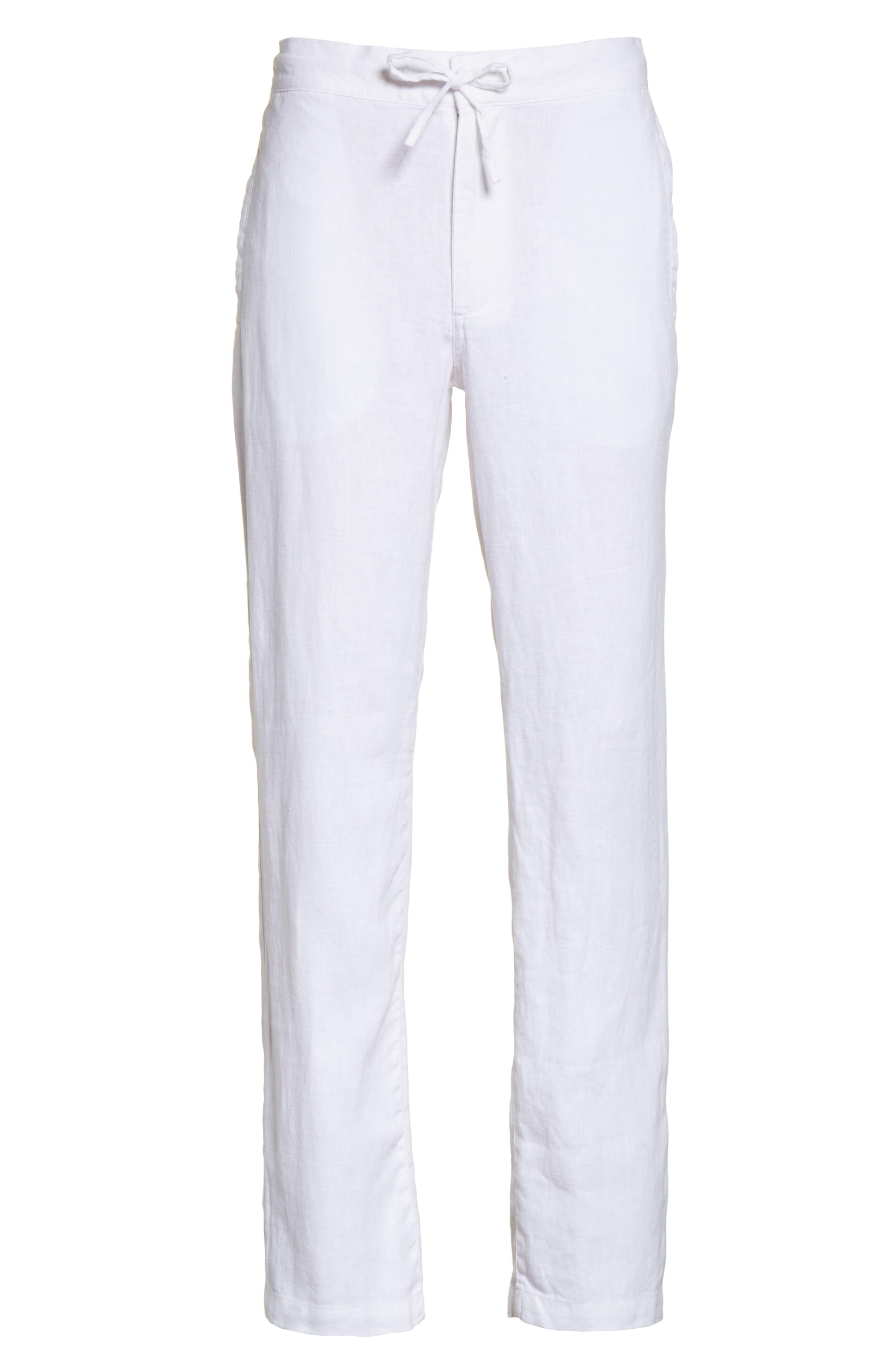 Collin Linen Pants,                             Alternate thumbnail 6, color,                             100
