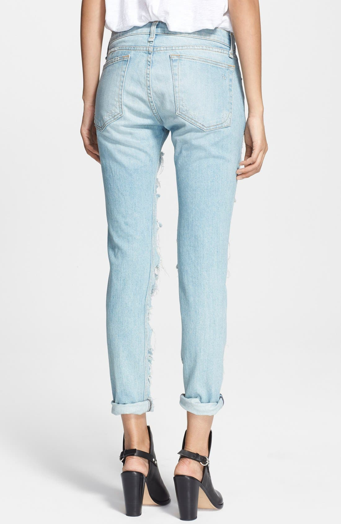'The Dre' Destructed Jeans,                             Alternate thumbnail 3, color,                             400