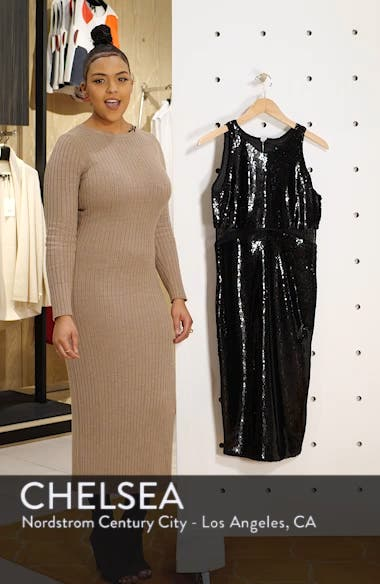 Splice Sequin Sheath Dress, sales video thumbnail
