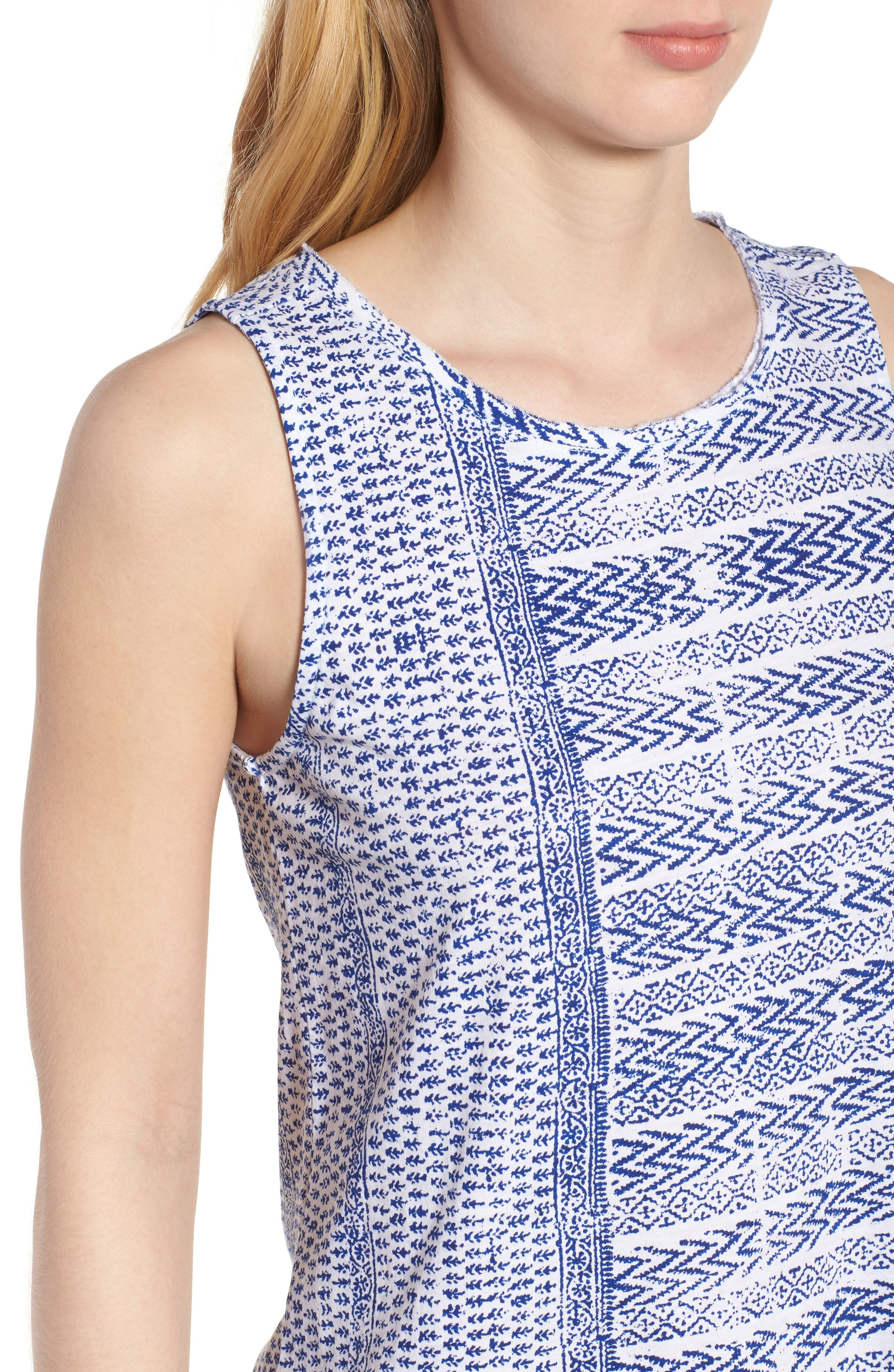 LUCKY BRAND,                             Print Tank,                             Alternate thumbnail 4, color,                             460