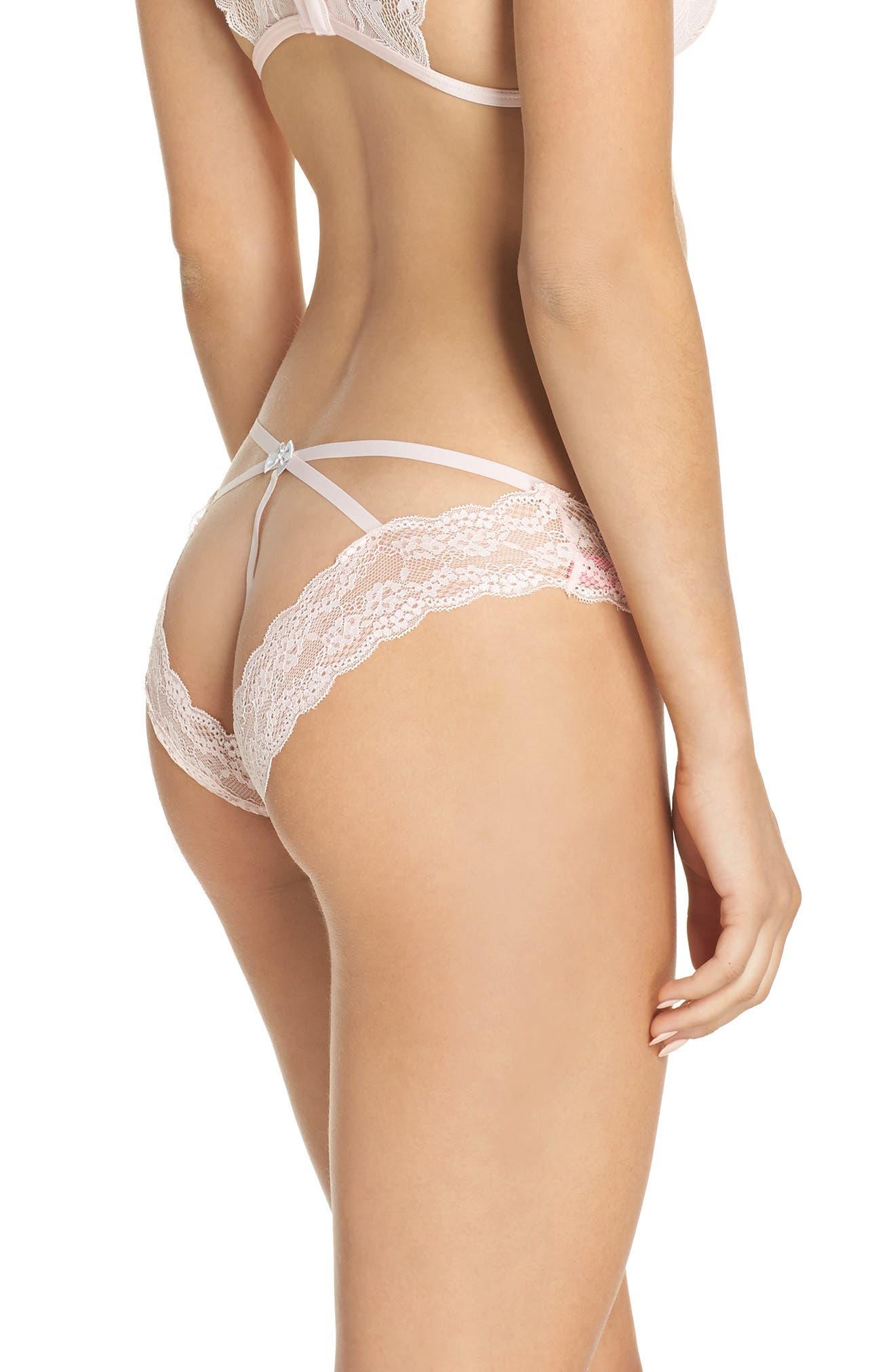 Lovely Lace Open Back Bikini,                             Alternate thumbnail 2, color,                             684