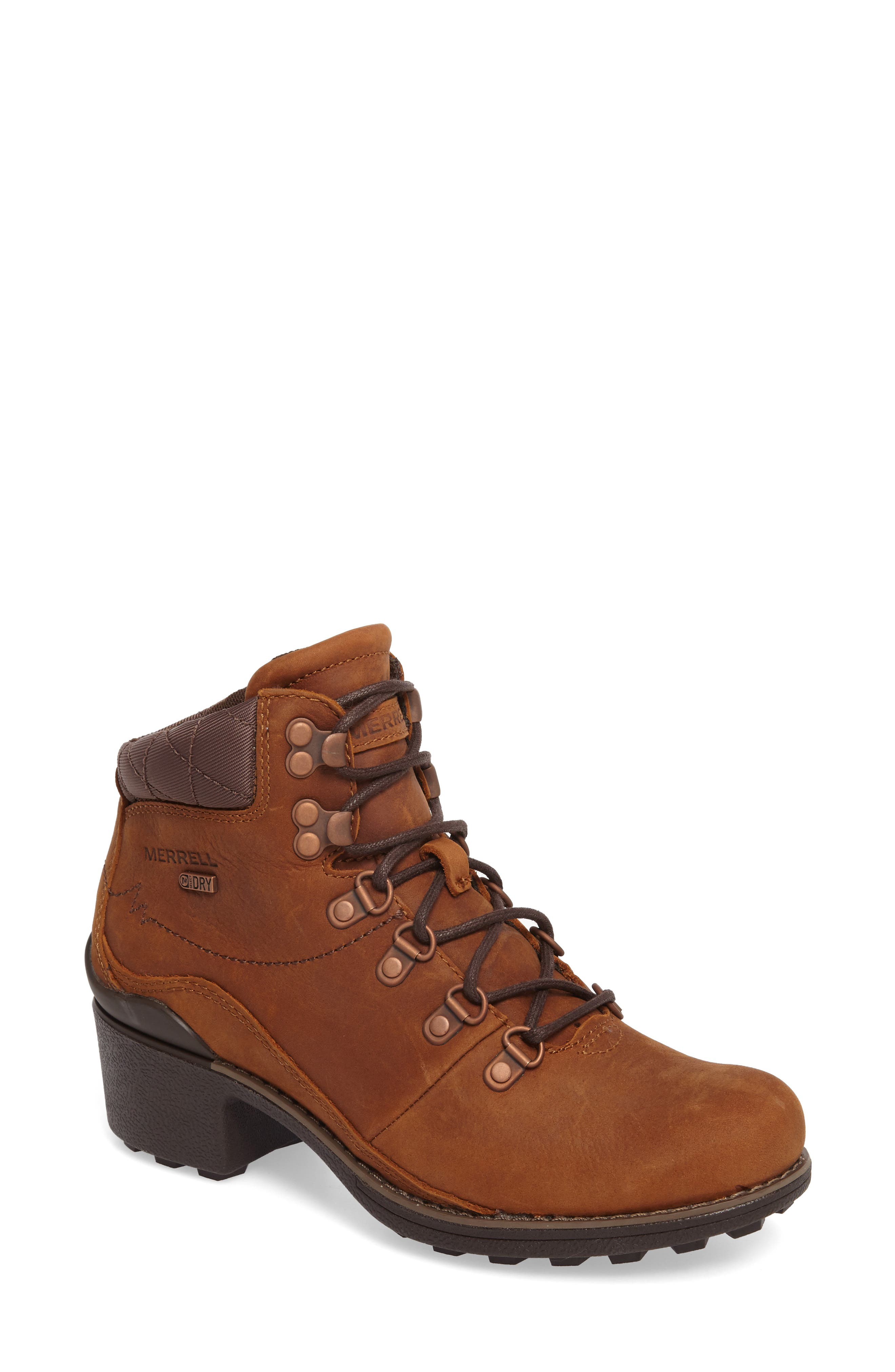 Merrell Chateau Mid Lace Waterproof Bootie, Brown