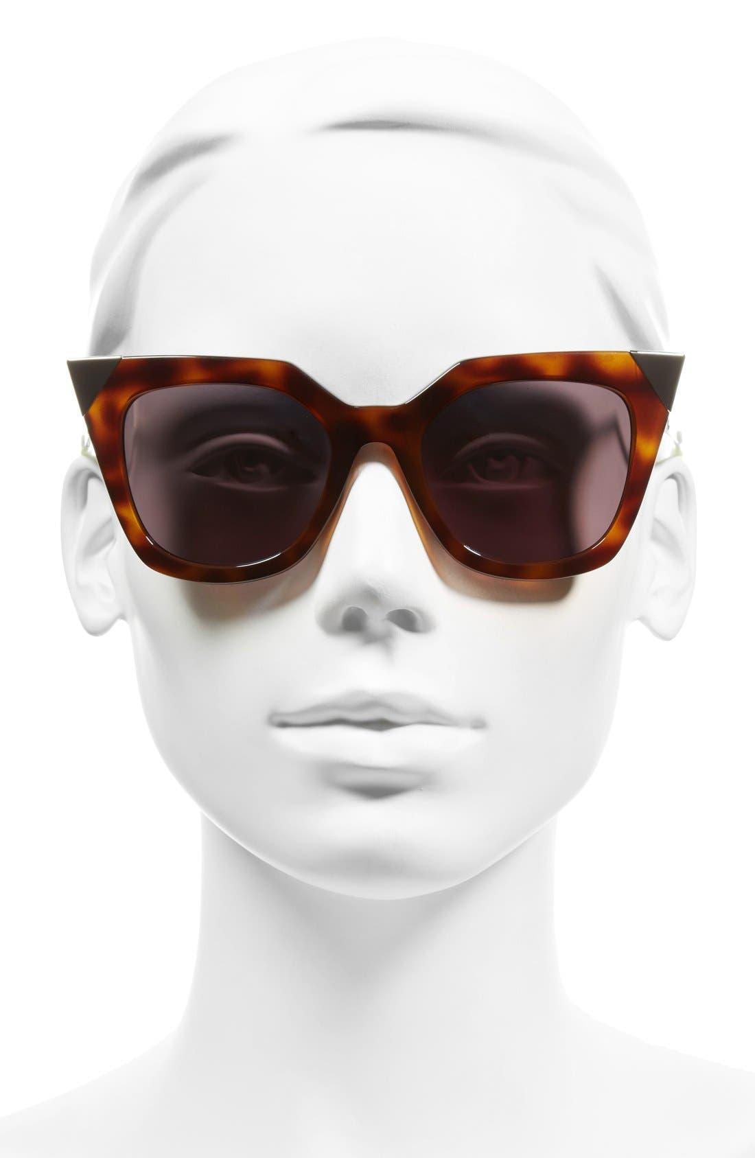 52mm Cat Eye Sunglasses,                             Alternate thumbnail 11, color,