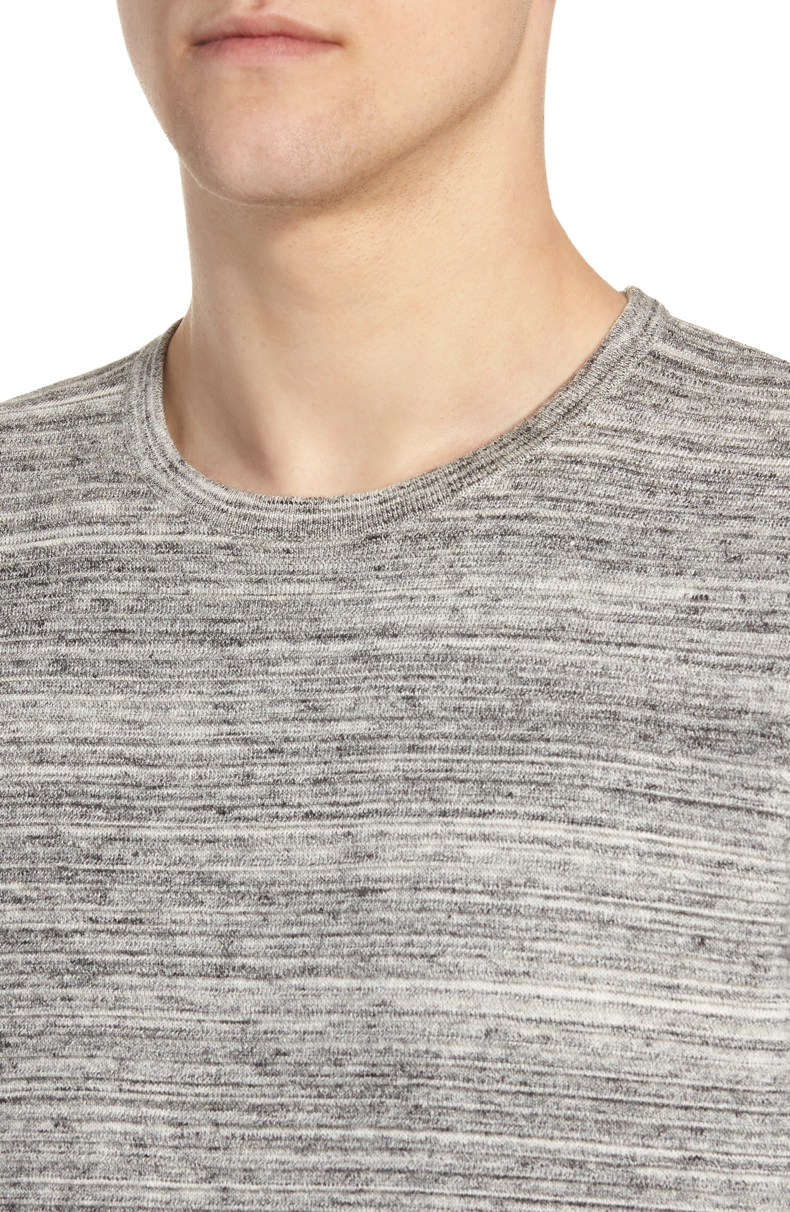 Ottoman Crewneck Sweater,                             Alternate thumbnail 4, color,                             GREY TORNADO SPACEDYE