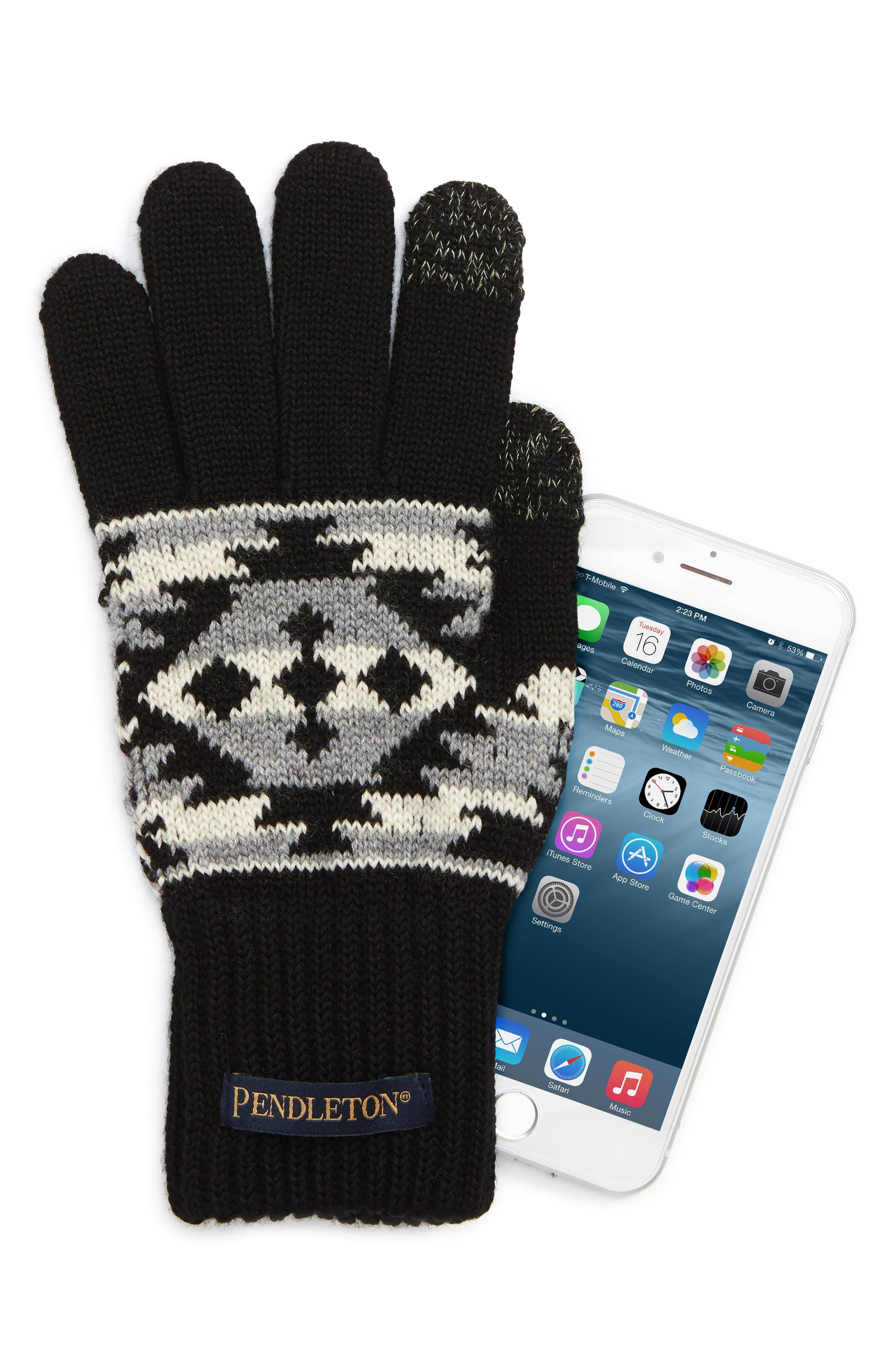 Texting Gloves,                             Alternate thumbnail 2, color,