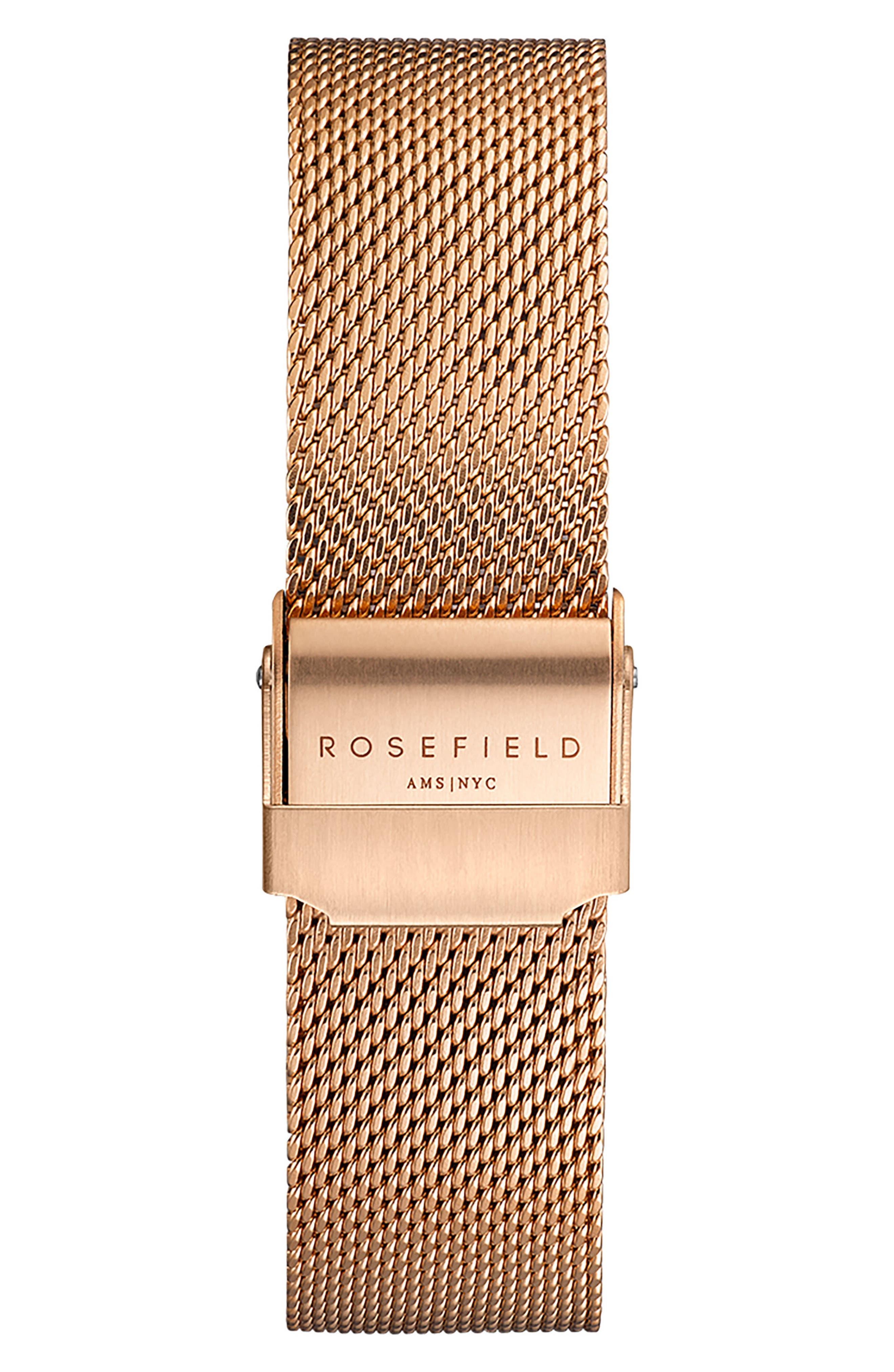 Tribeca Mesh Strap Watch, 33mm,                             Alternate thumbnail 2, color,                             ROSE GOLD/ WHITE/ ROSE GOLD