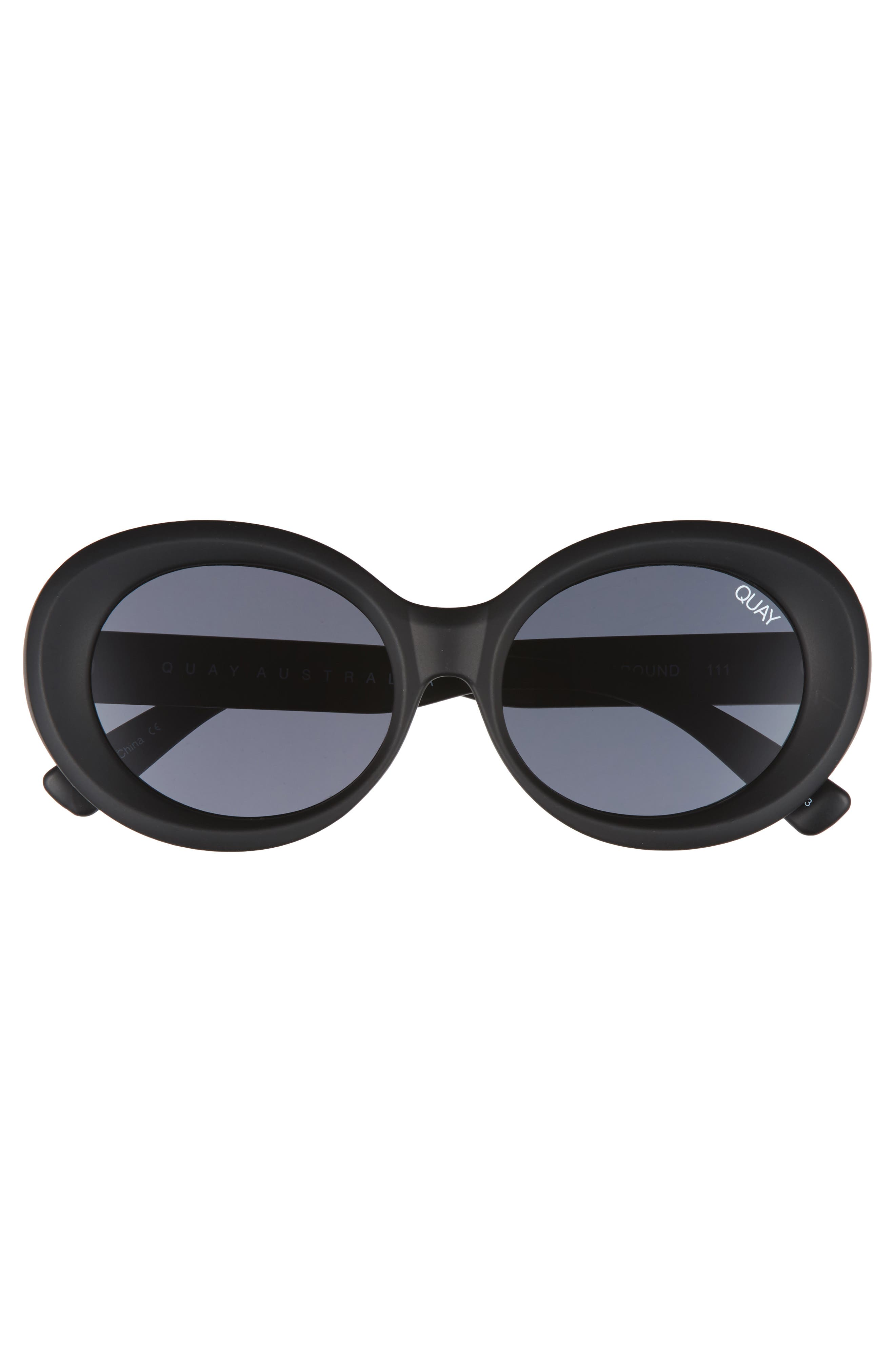 Mess Around 52mm Oval Sunglasses,                             Alternate thumbnail 3, color,                             001