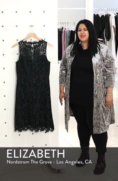 High Neck Lace Sheath Dress, sales video thumbnail