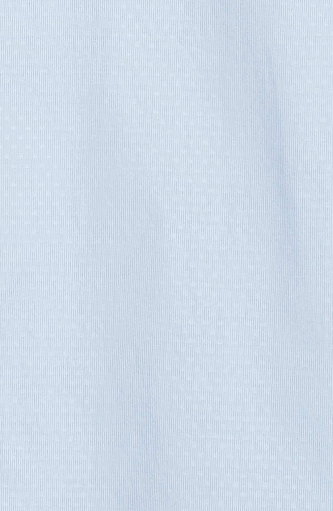 Regular Fit Stripe Dress Shirt,                             Alternate thumbnail 6, color,                             CLOUD