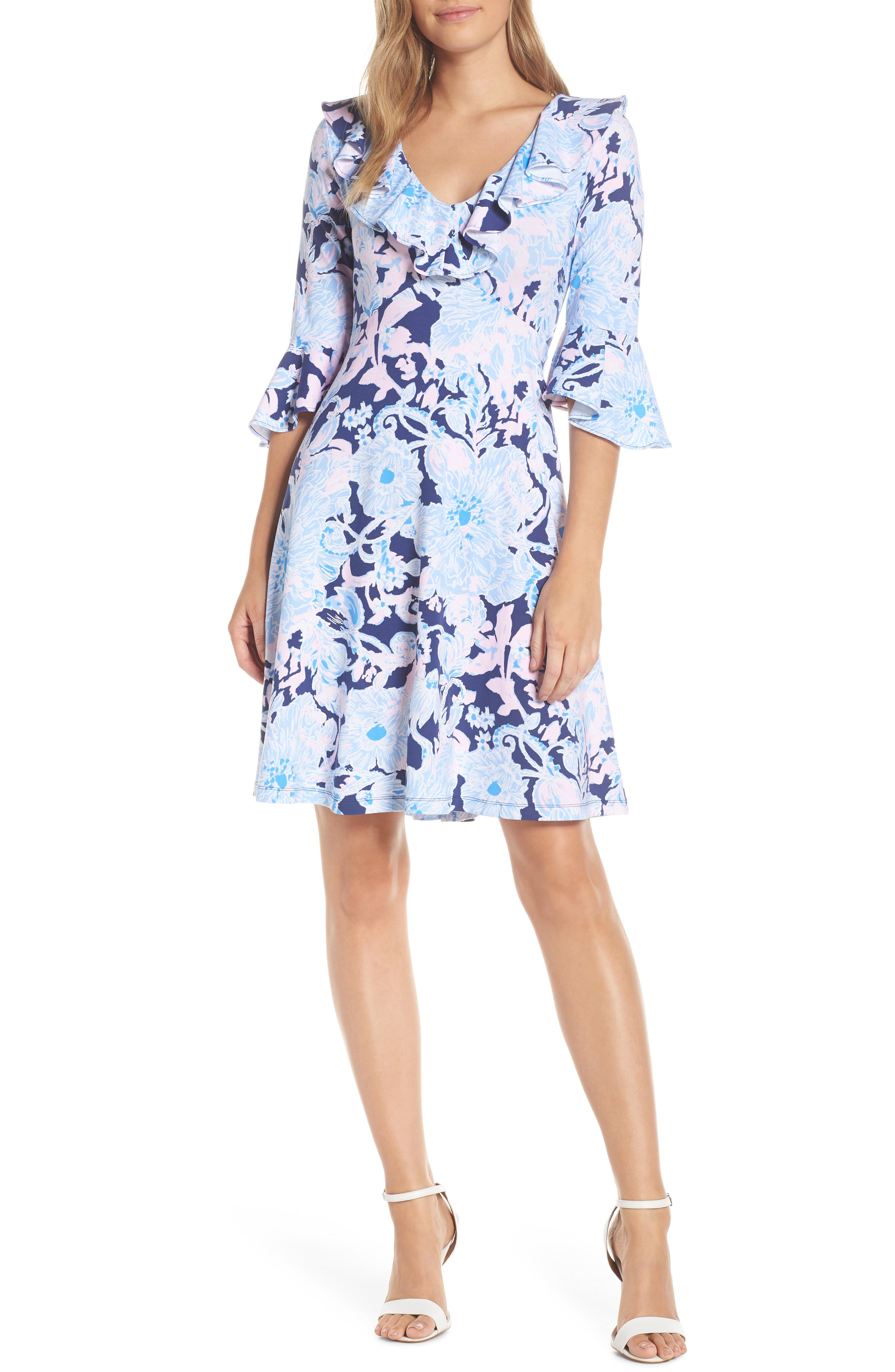 Lilly Pulitzer Stirling A-Line Dress, Blue