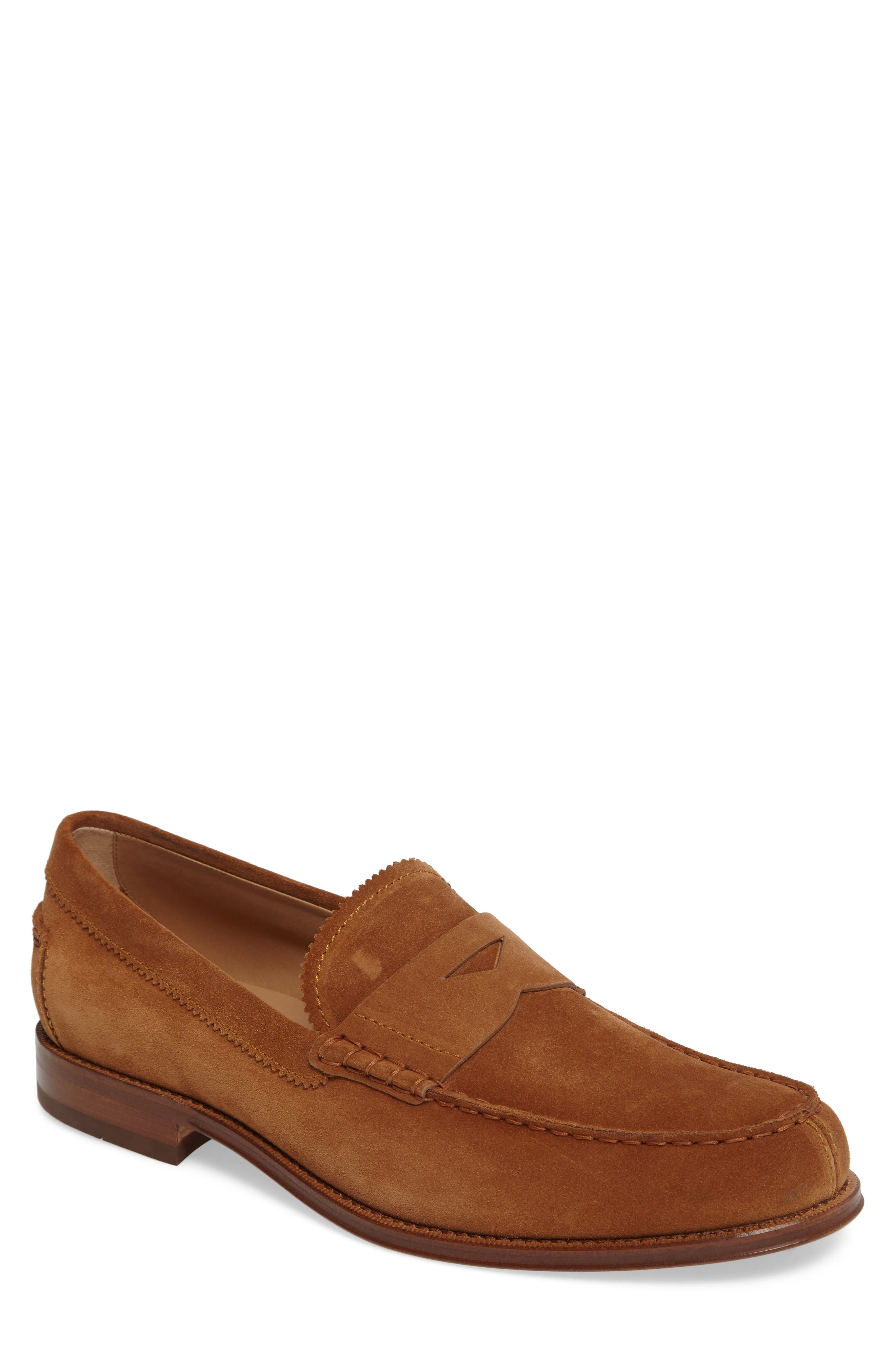 Suede Penny Loafer,                             Main thumbnail 1, color,                             215