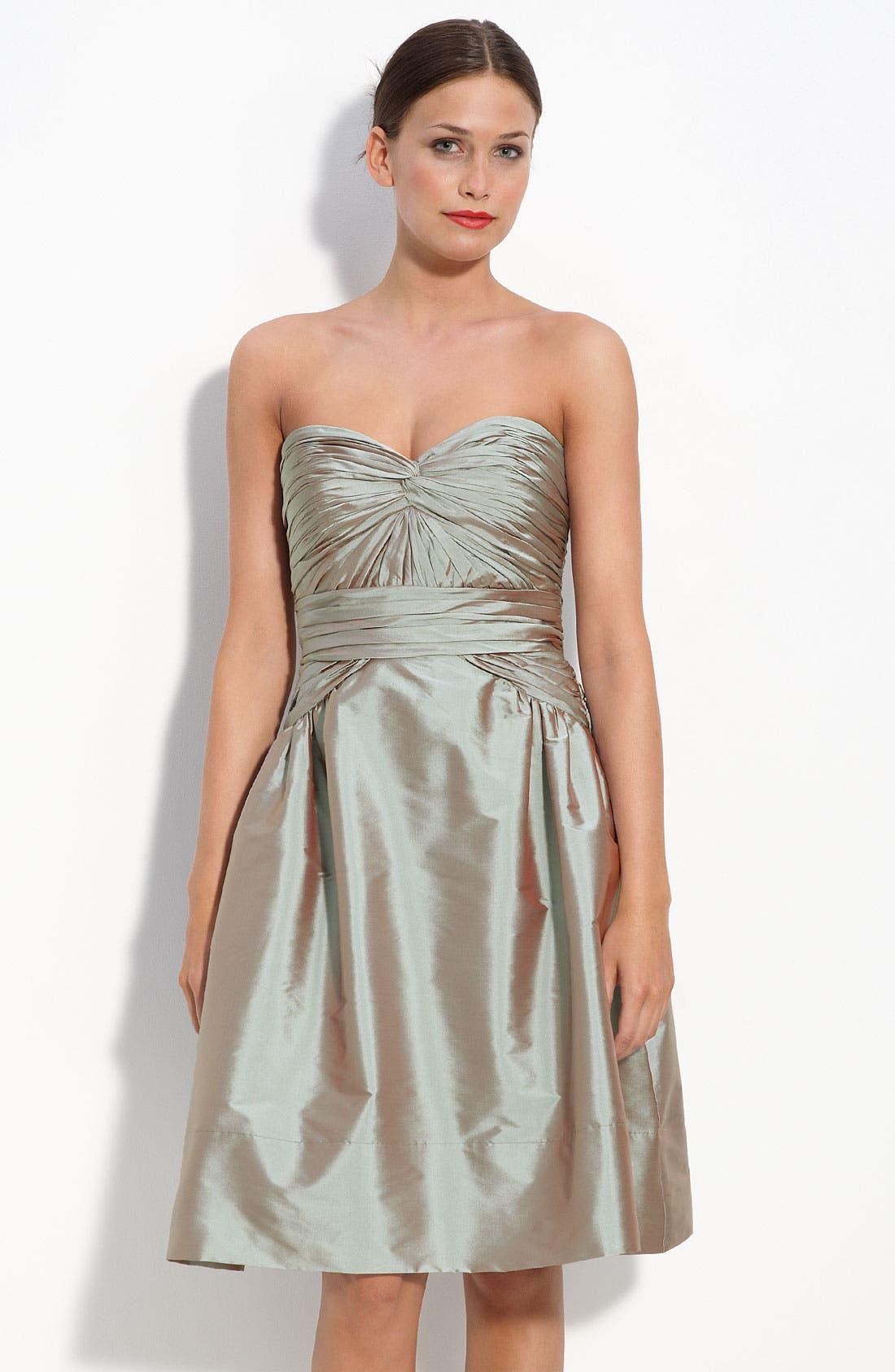 MONIQUE LHUILLIER BRIDESMAIDS,                             ML Monique Lhuillier Bridesmaids Strapless Taffeta Dress,                             Main thumbnail 1, color,                             953