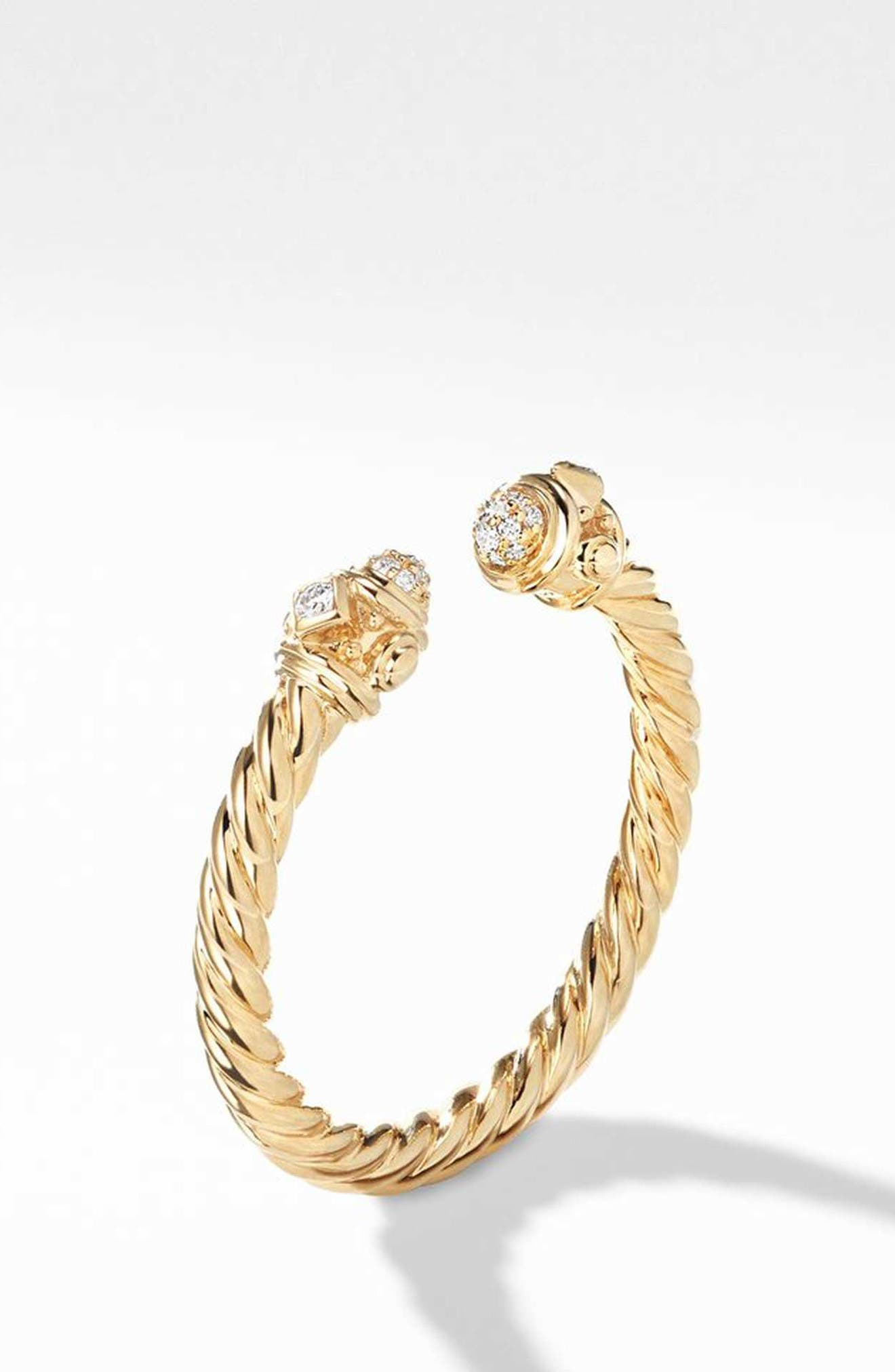 Renaissance Ring in 18K Gold with Diamonds,                             Alternate thumbnail 2, color,                             GOLD/ DIAMOND