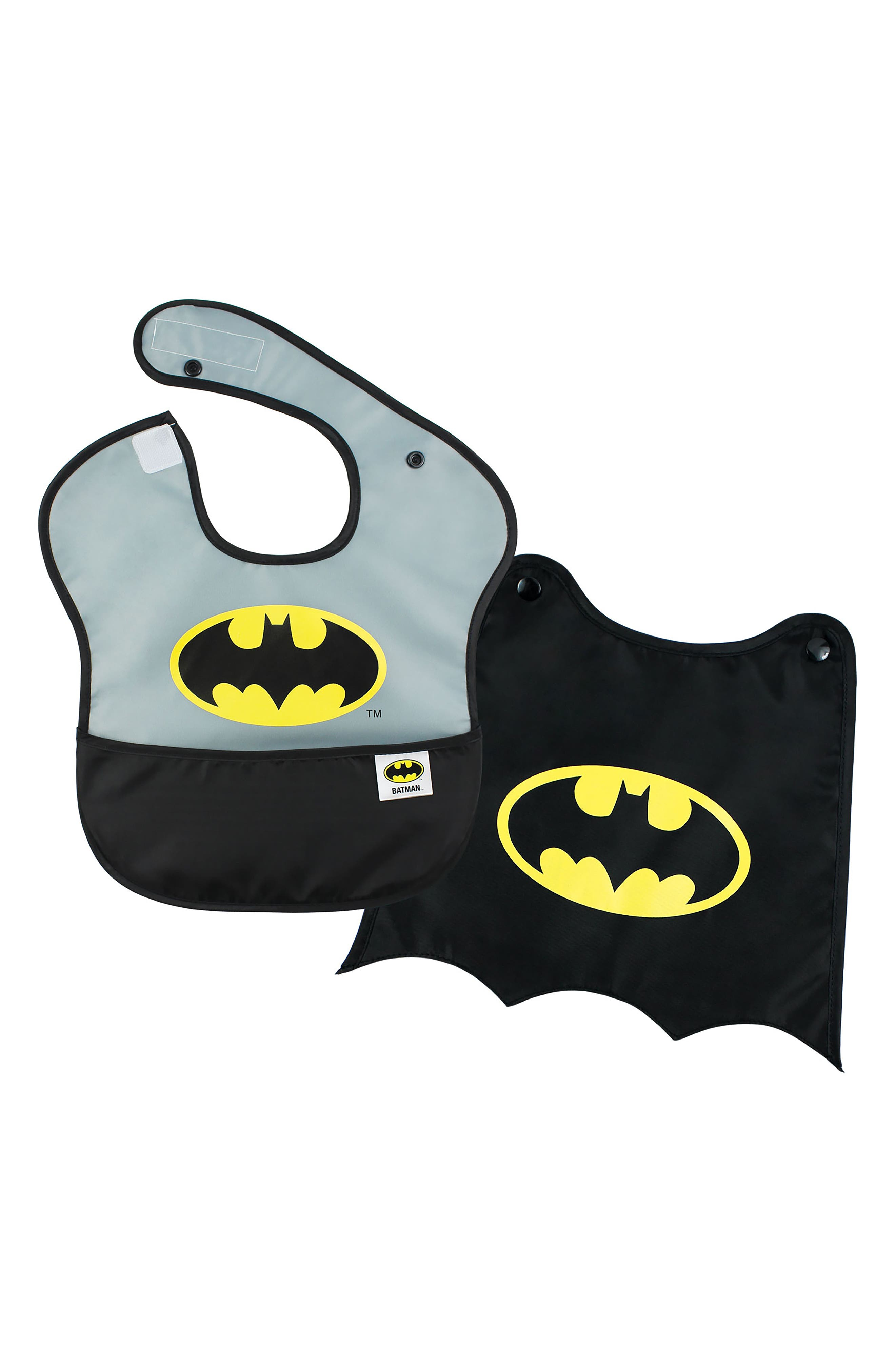 Batman Grip Dish & Caped SuperBib Set,                             Alternate thumbnail 3, color,                             001