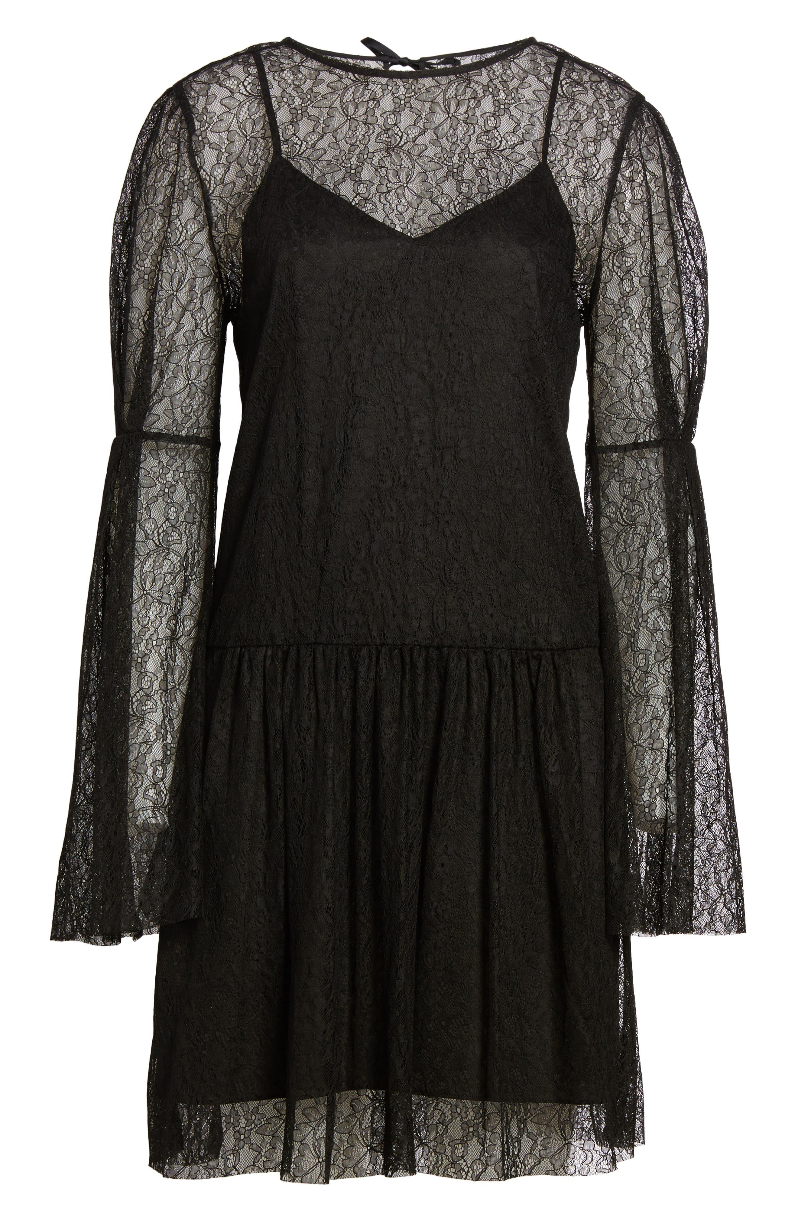 Lace Dress,                             Alternate thumbnail 6, color,                             001