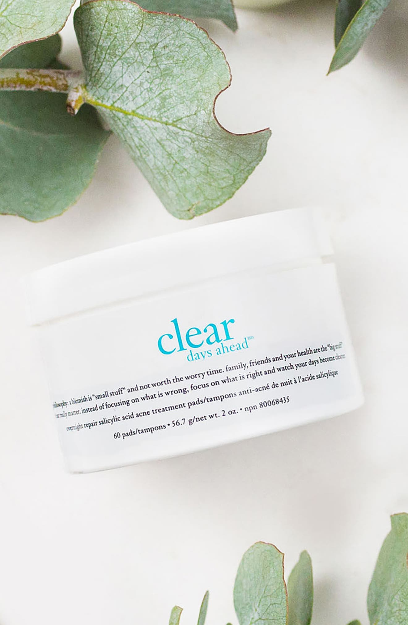 'clear days ahead overnight repair' acne treatment pads,                             Alternate thumbnail 3, color,                             000