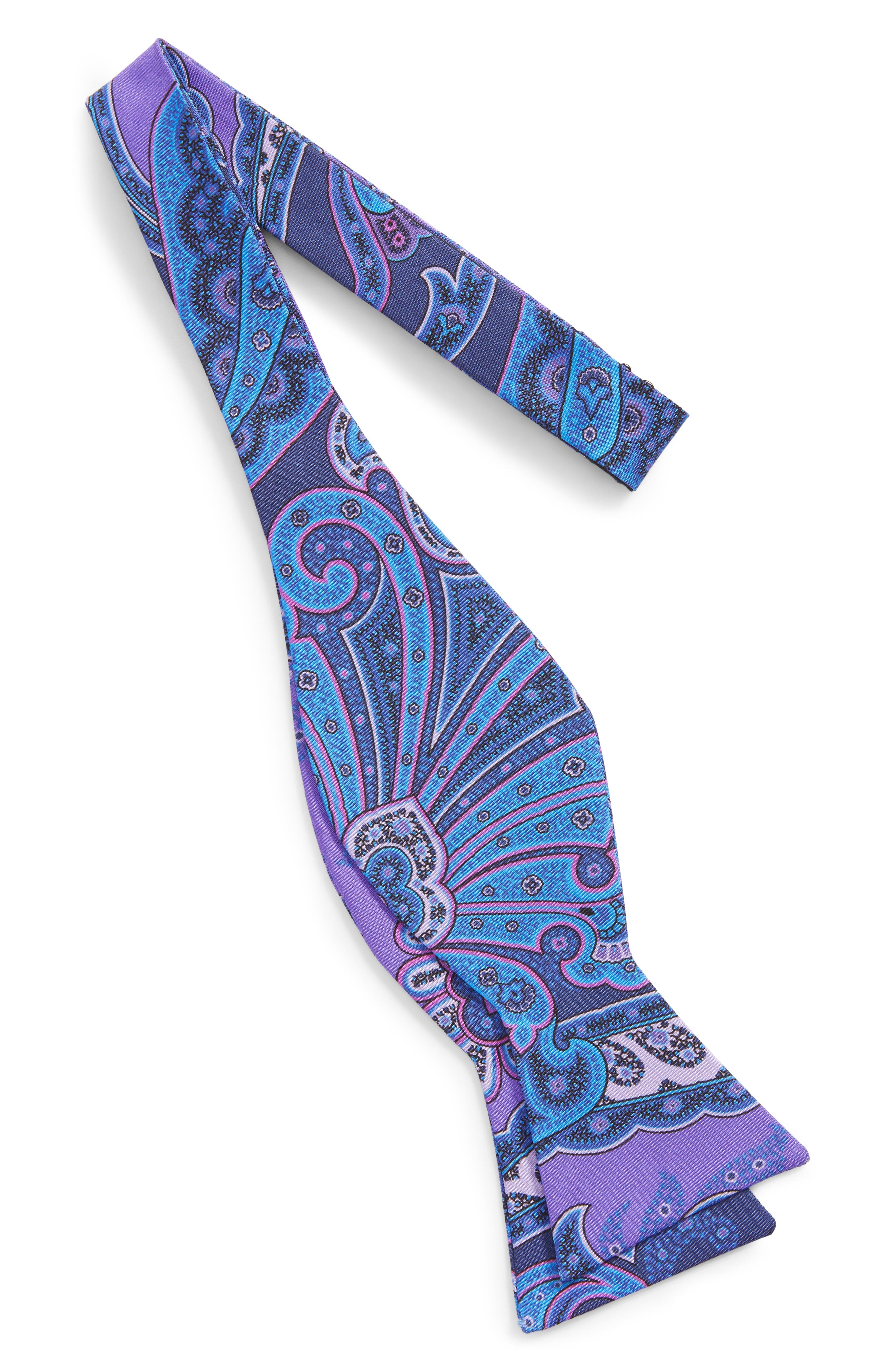Paisley Silk Bow Tie,                             Alternate thumbnail 2, color,                             500