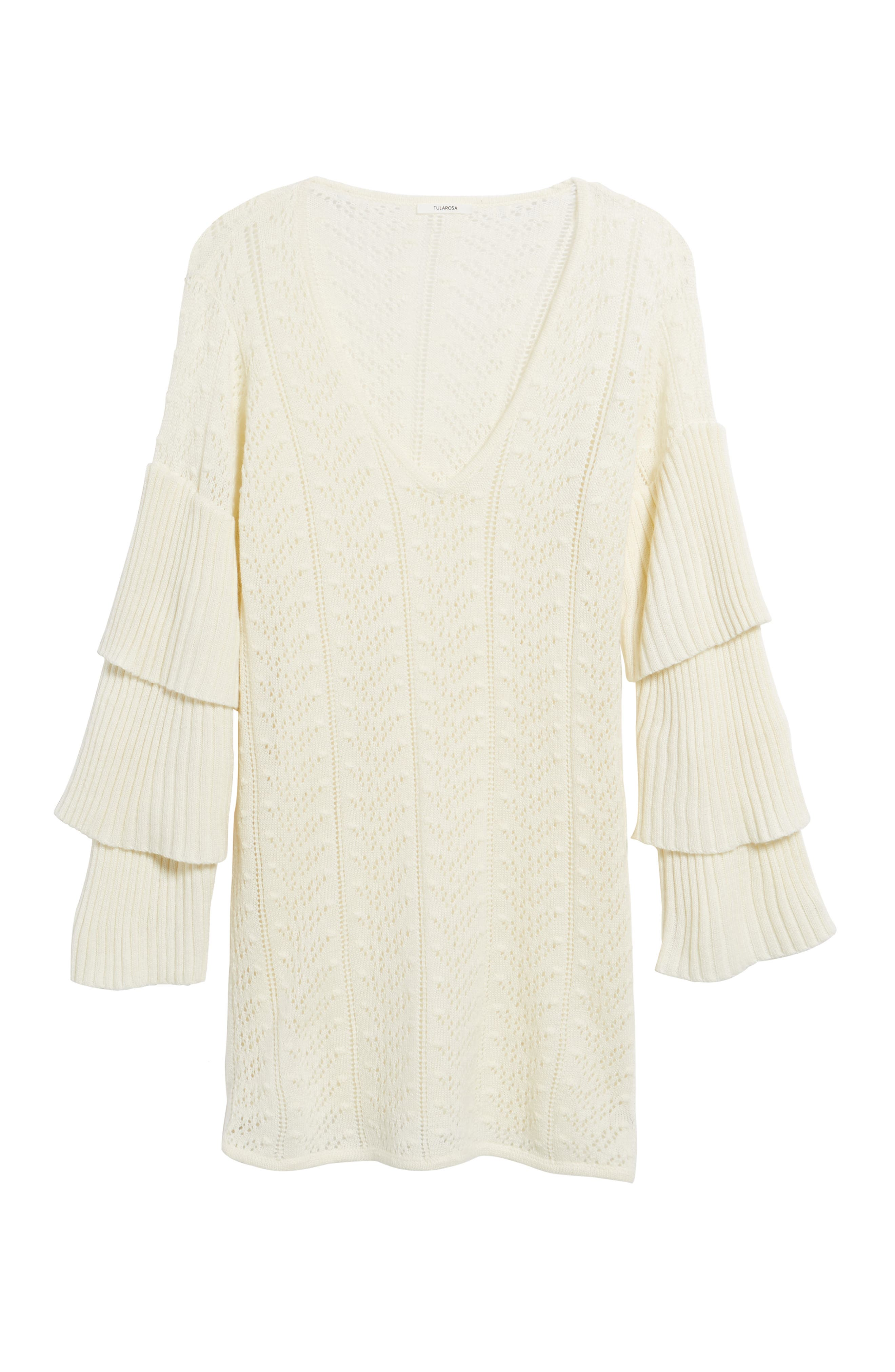 Scout Knit Ruffle Sleeve Dress,                             Alternate thumbnail 6, color,