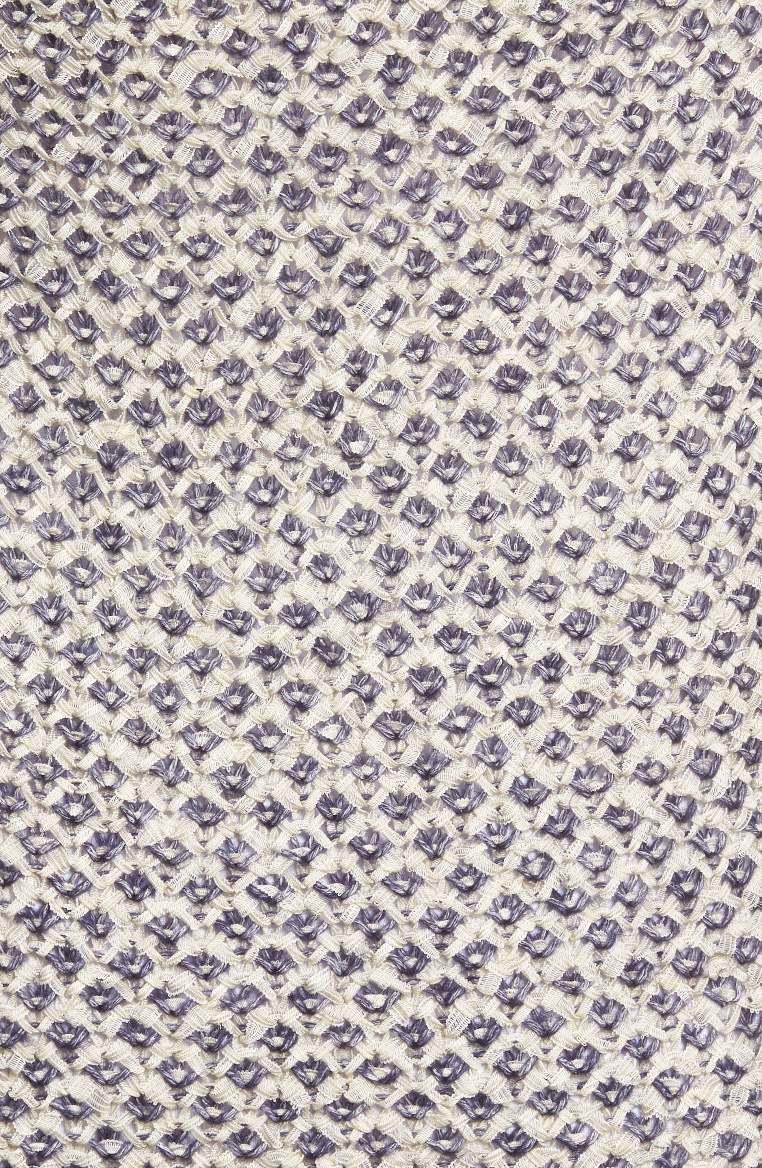 Textured Boyfriend Cardigan,                             Alternate thumbnail 5, color,                             IVORY- NAVY PATTERN