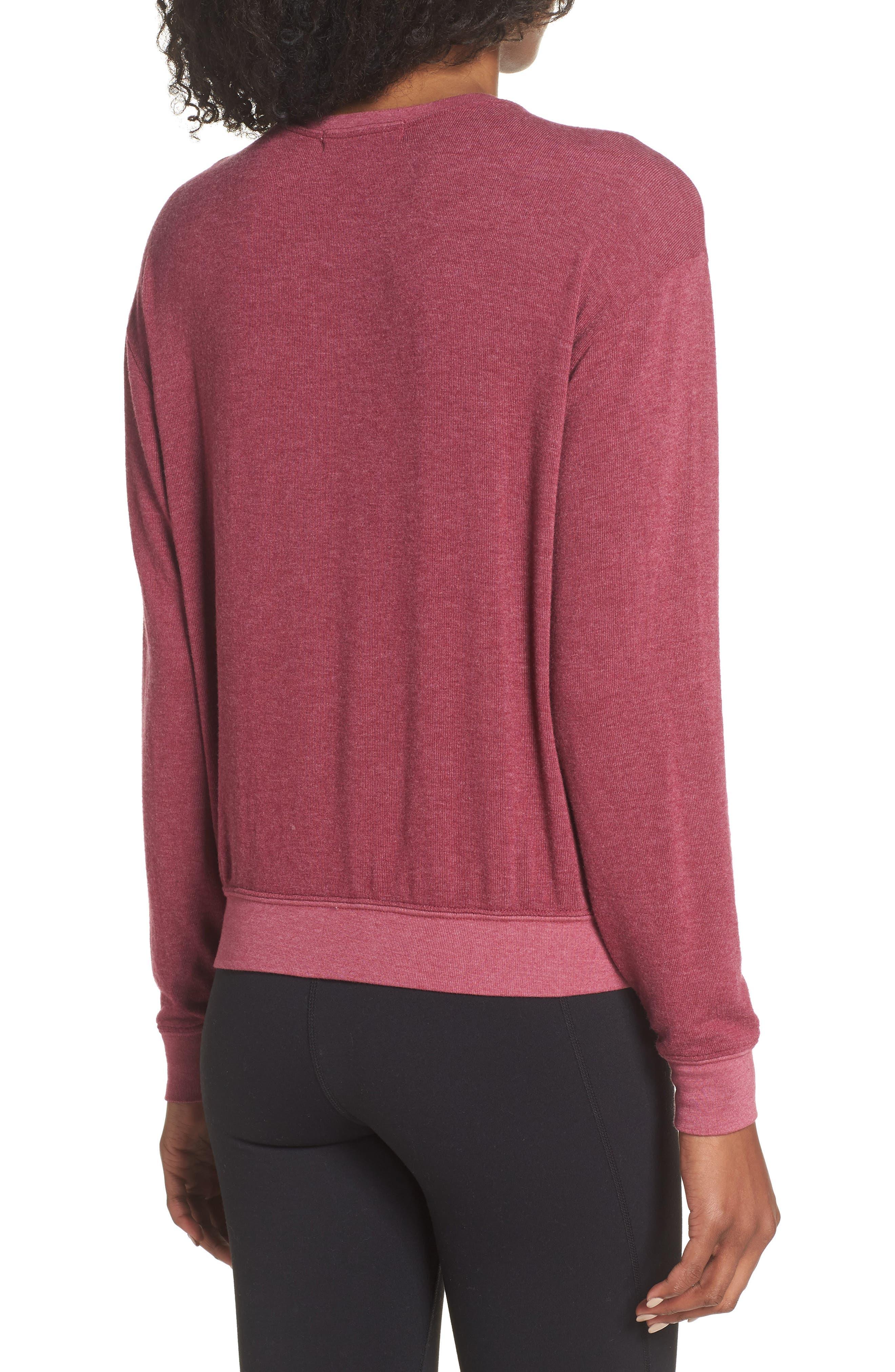 Varsity Crop Sweatshirt,                             Alternate thumbnail 2, color,                             AMOR