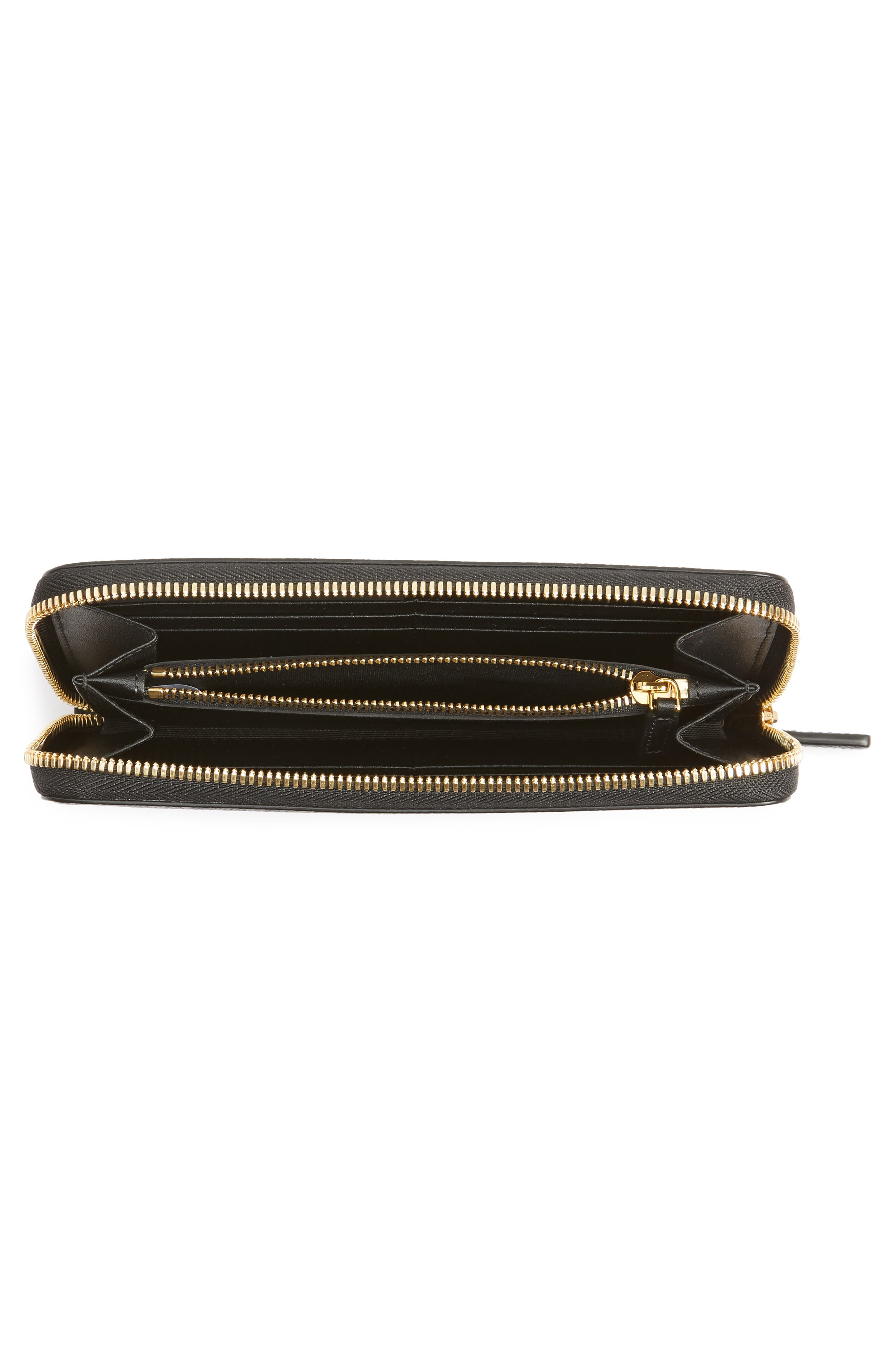 Milla Leather Zip Around Wallet,                             Alternate thumbnail 2, color,                             001