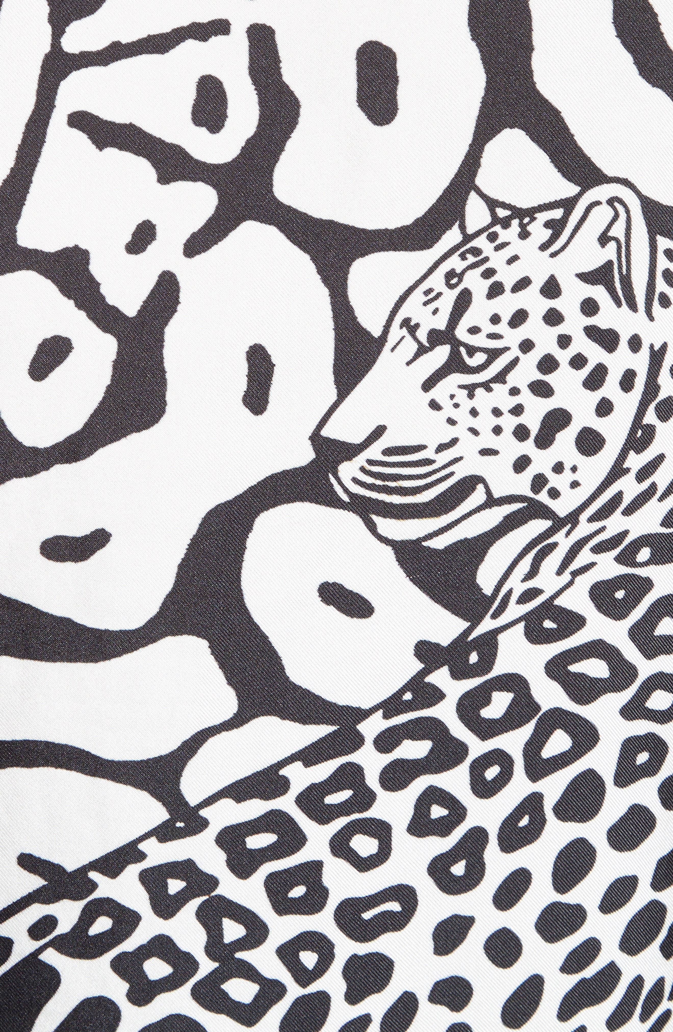 Leo Print Twill Tee,                             Alternate thumbnail 5, color,                             001