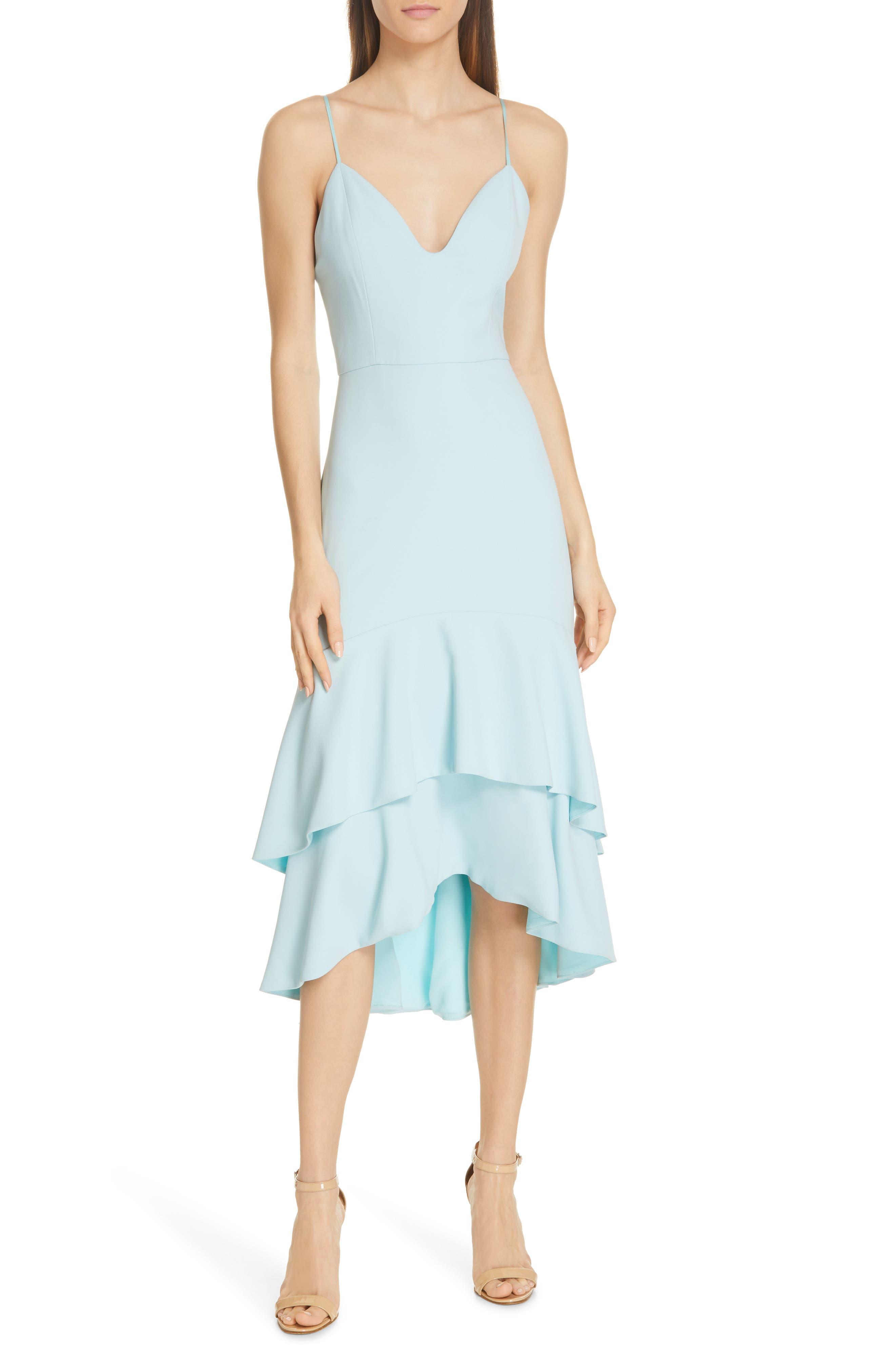Alice + Olivia Amina Fitted Dress, Blue