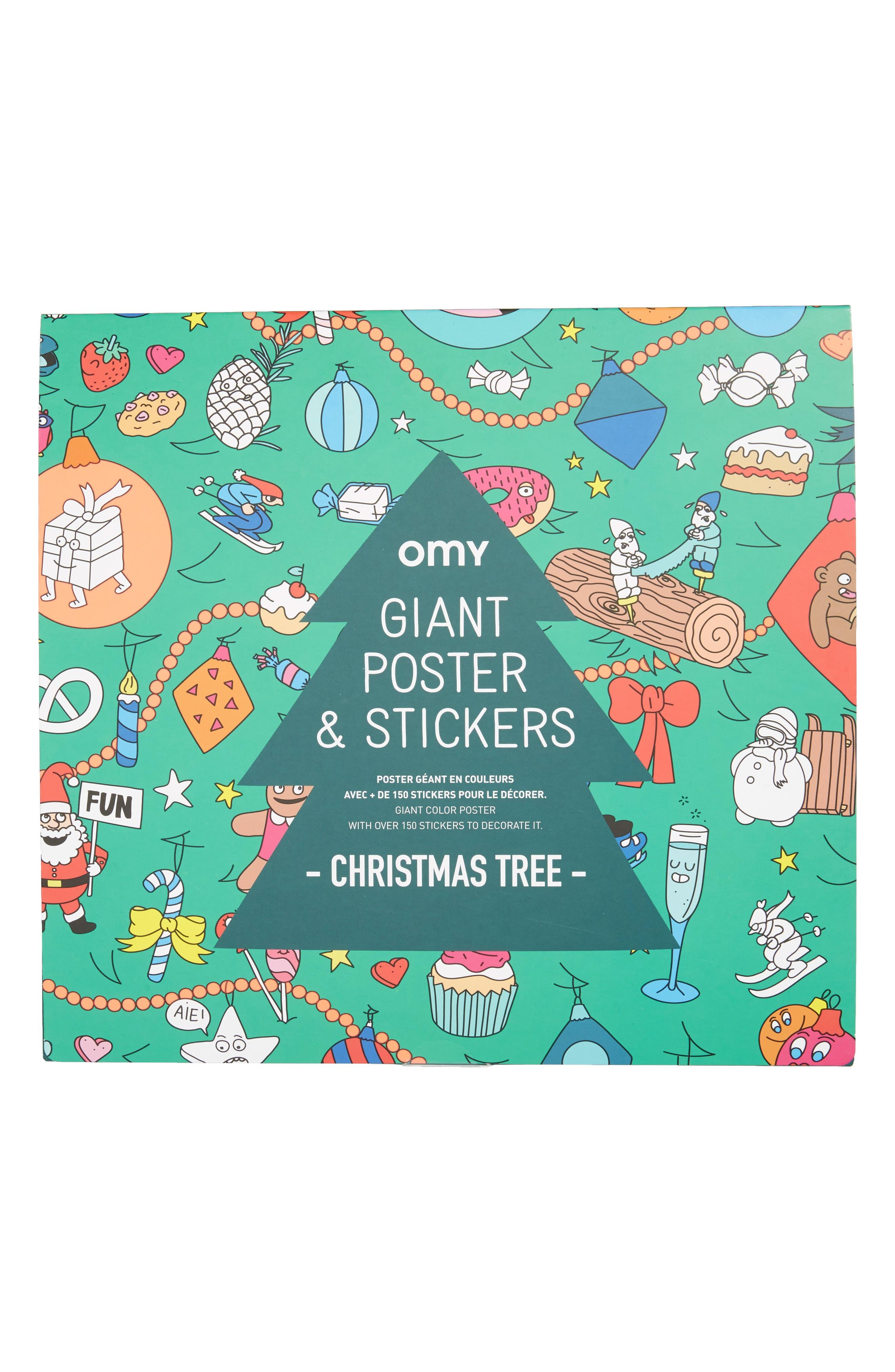 Christmas Tree Sticker Poster Set,                             Main thumbnail 1, color,                             300