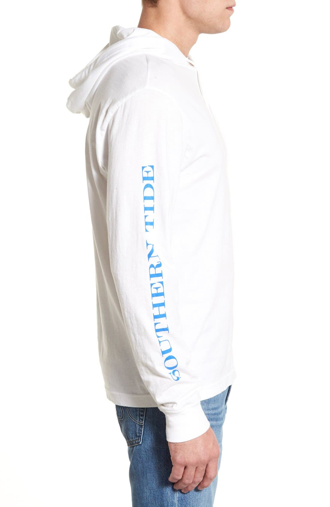 Graphic Hooded Long Sleeve T-Shirt,                             Alternate thumbnail 5, color,                             107