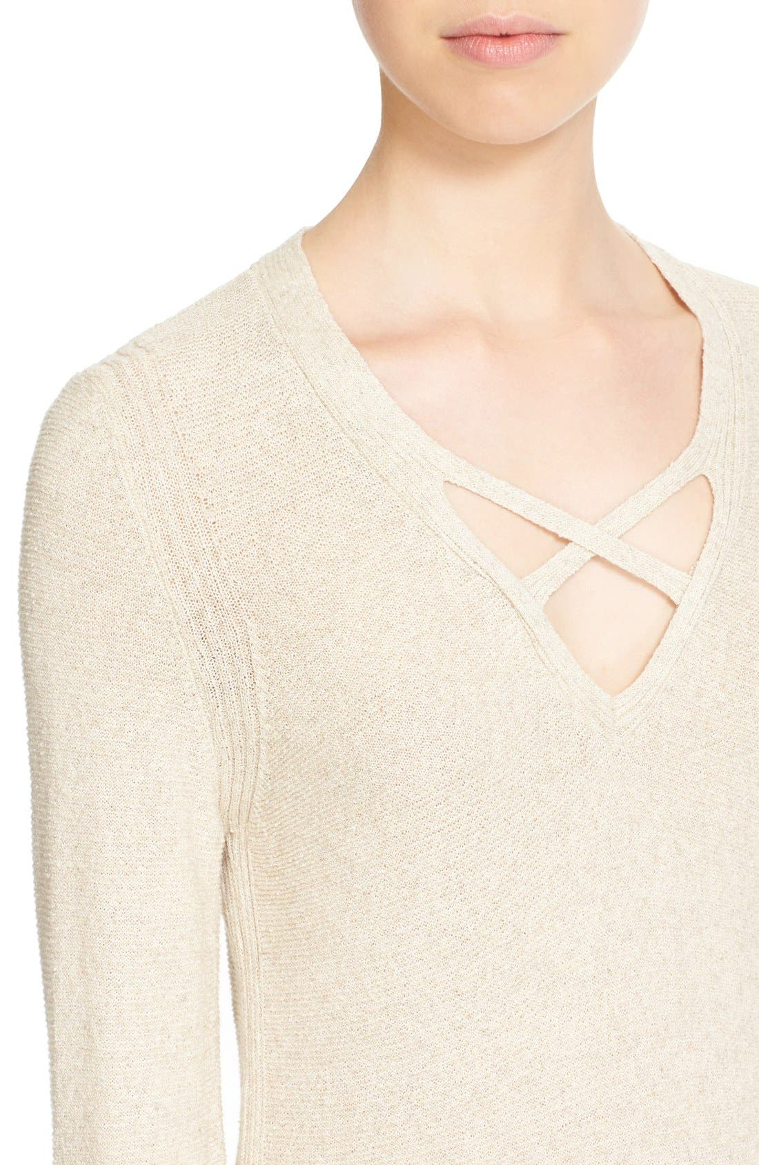 Crisscross Sweater,                             Alternate thumbnail 39, color,
