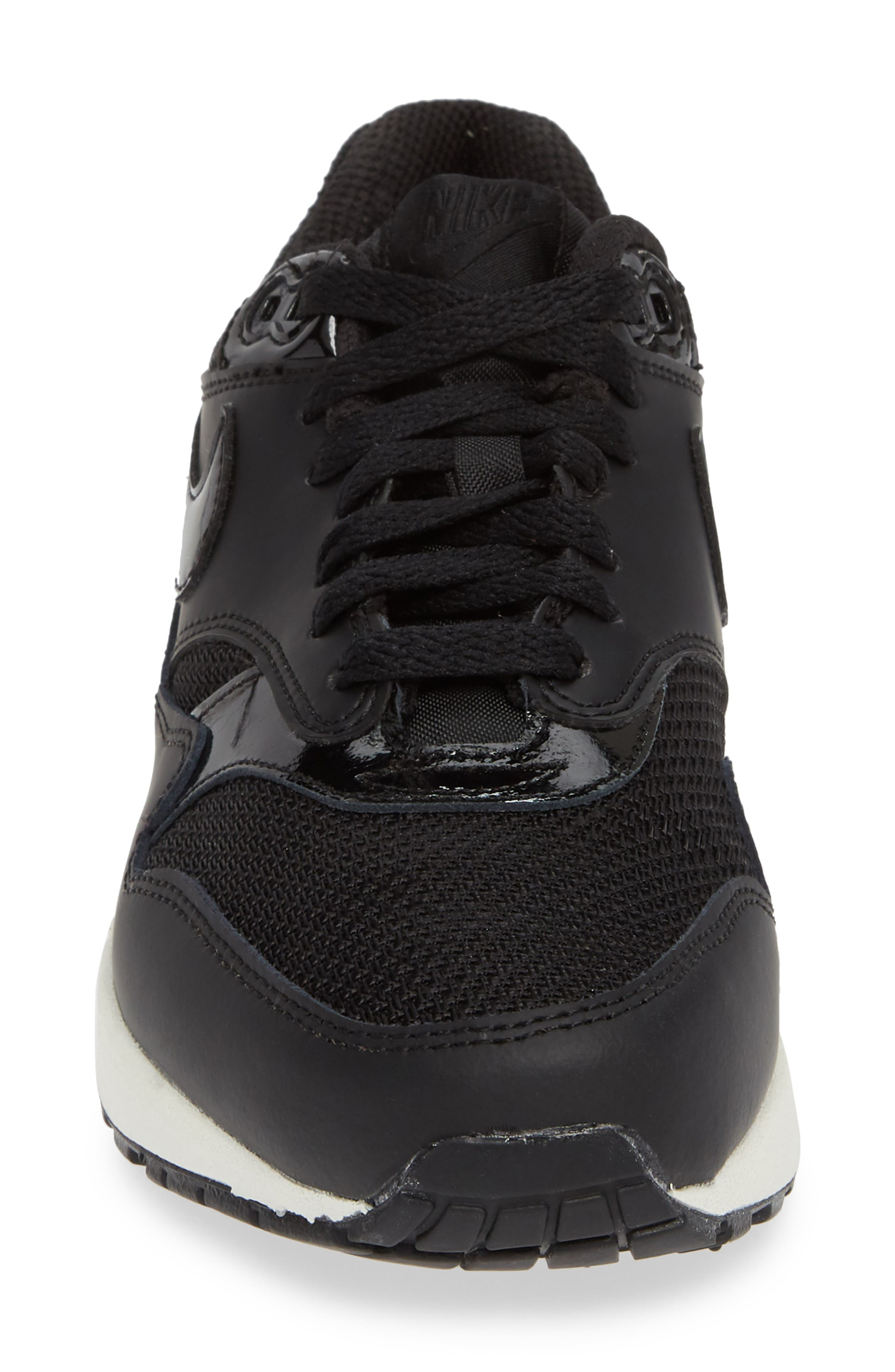 'Air Max 1 ND' Sneaker,                             Alternate thumbnail 4, color,                             BLACK/ BLACK-BLACK- WHITE