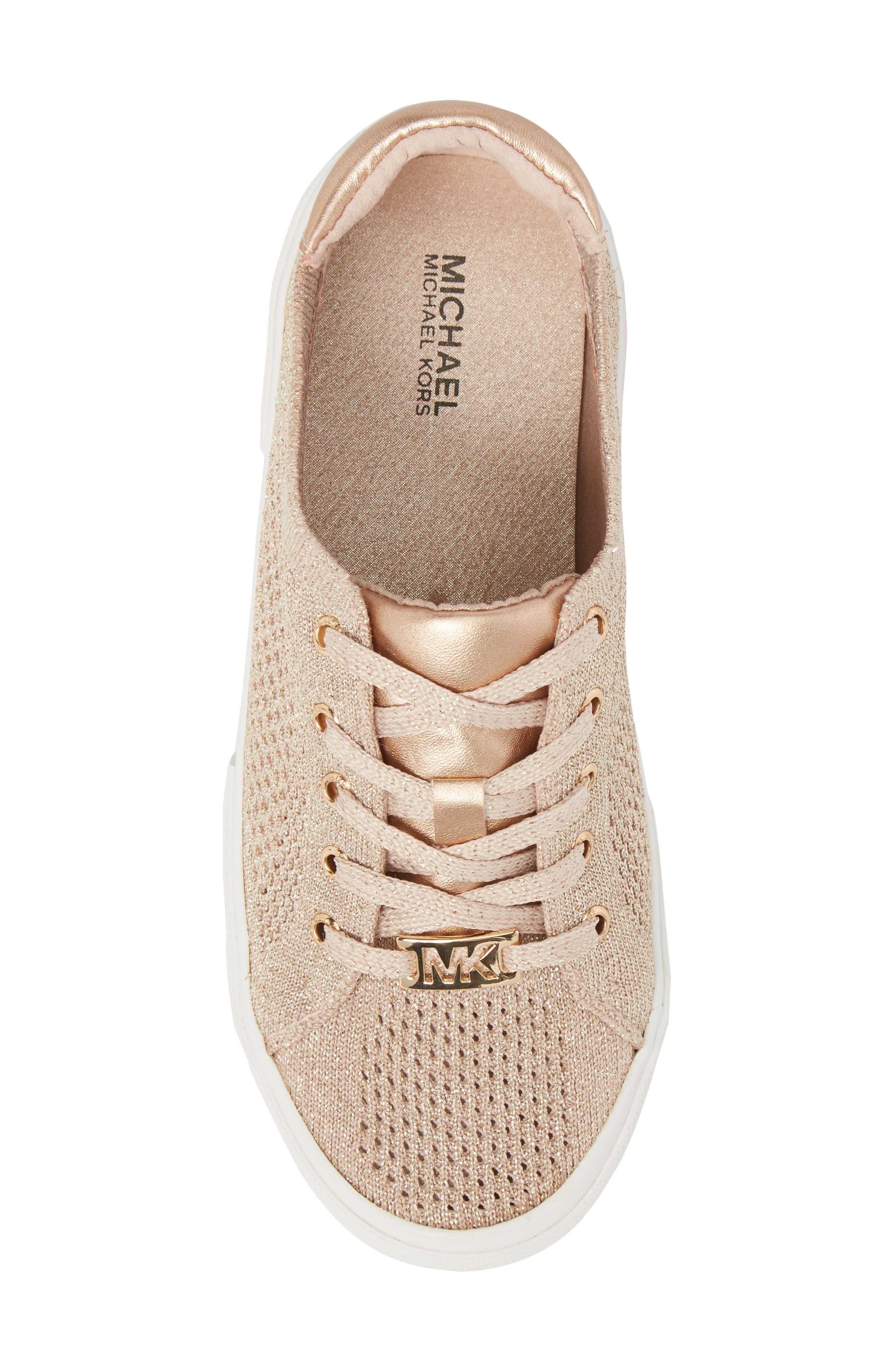 Ima Metallic Knit Sneaker,                             Alternate thumbnail 5, color,                             BLUSH SHIMMER