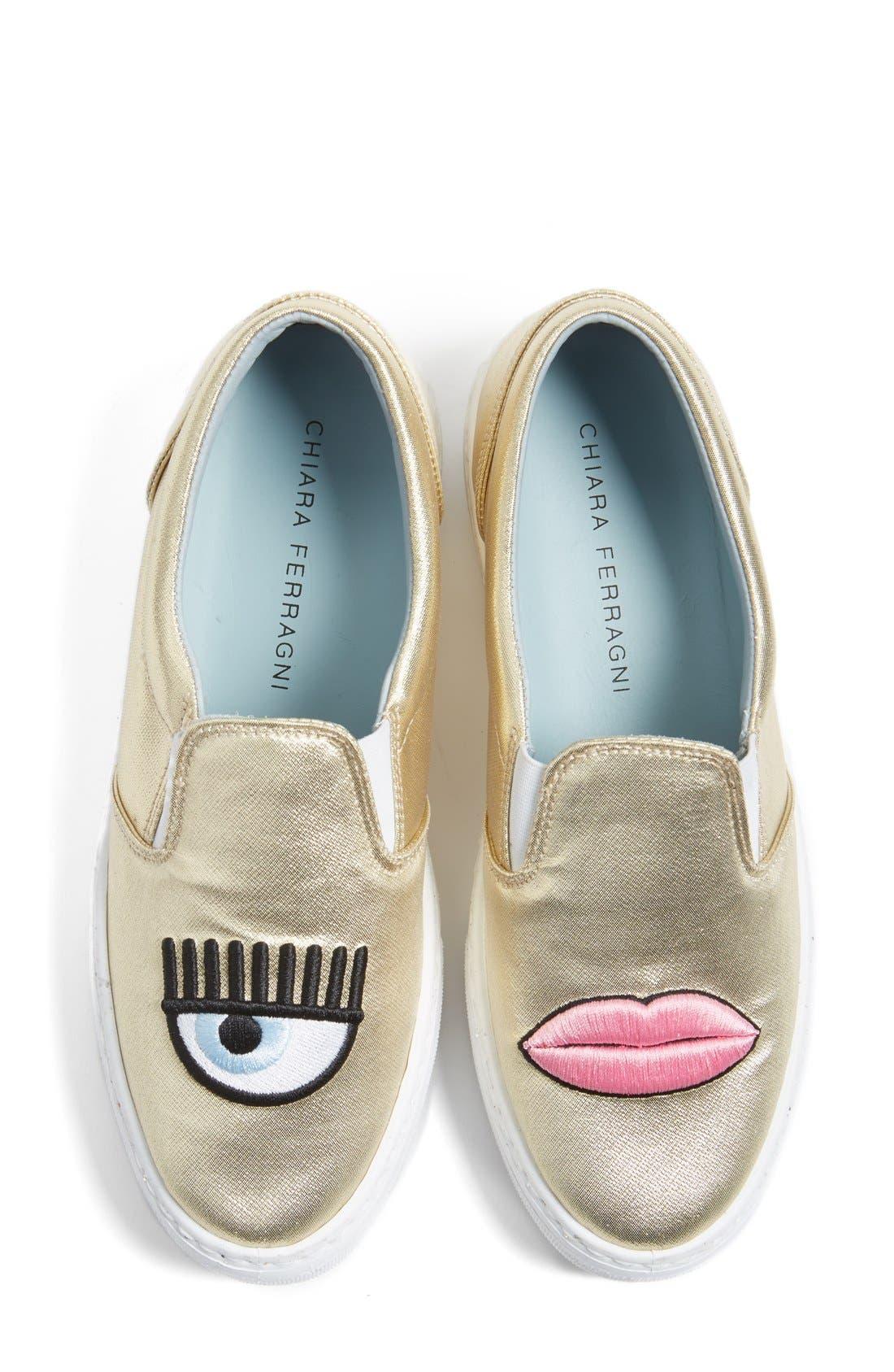 Flirting Lips Slip-On Sneaker,                             Main thumbnail 1, color,                             710