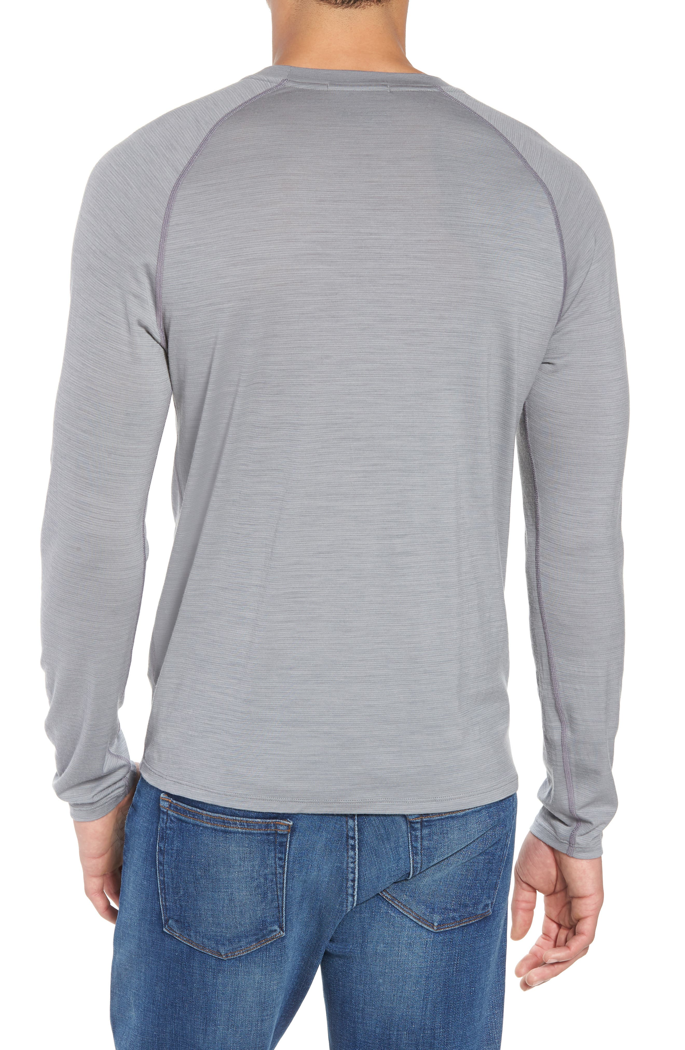 SMARTWOOL,                             Merino 150 Wool Blend Long Sleeve T-Shirt,                             Alternate thumbnail 2, color,                             LIGHT GREY