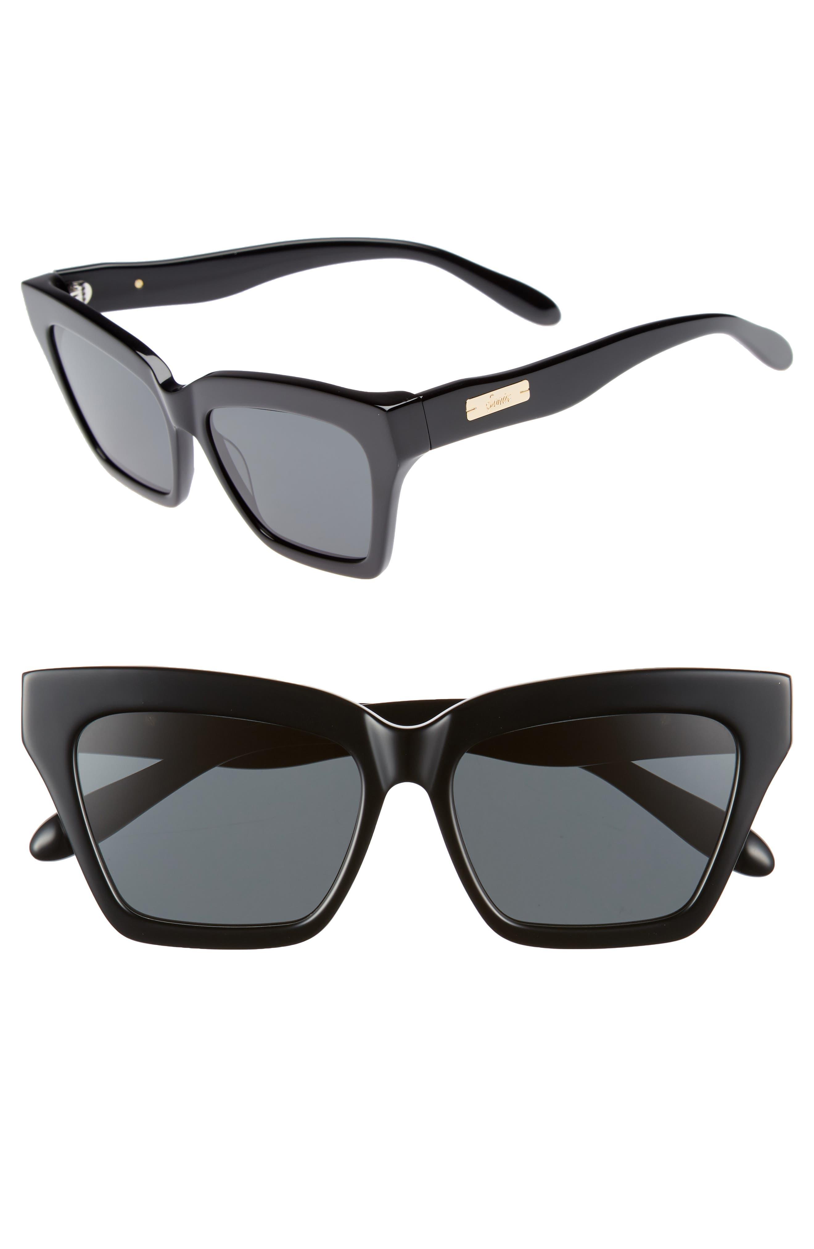 Half Half 54mm Cat Eye Sunglasses,                             Main thumbnail 1, color,                             001