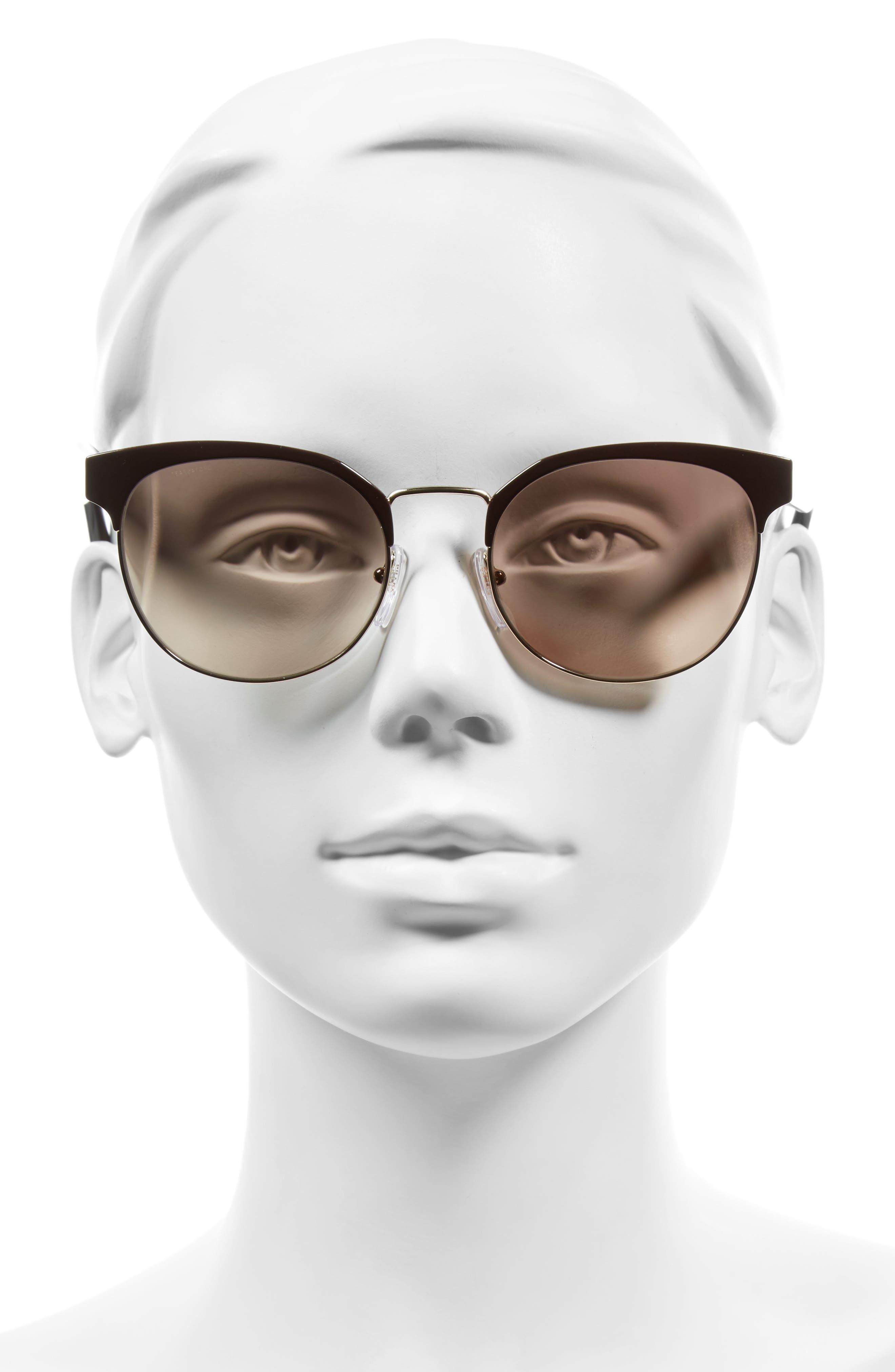 54mm Gradient Round Sunglasses,                             Alternate thumbnail 4, color,