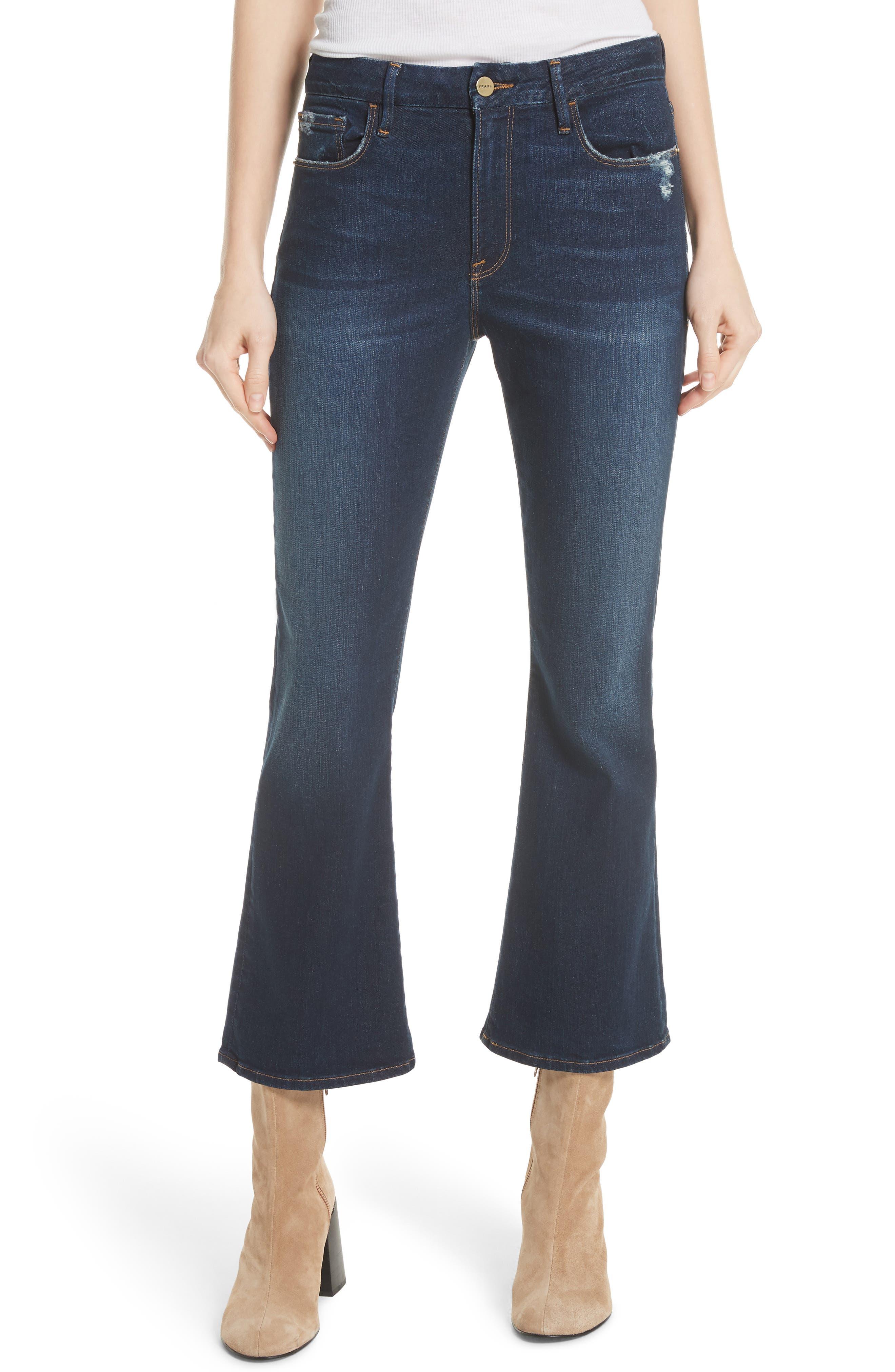 Le Crop Mini Boot Jeans,                         Main,                         color, CREEK HILL