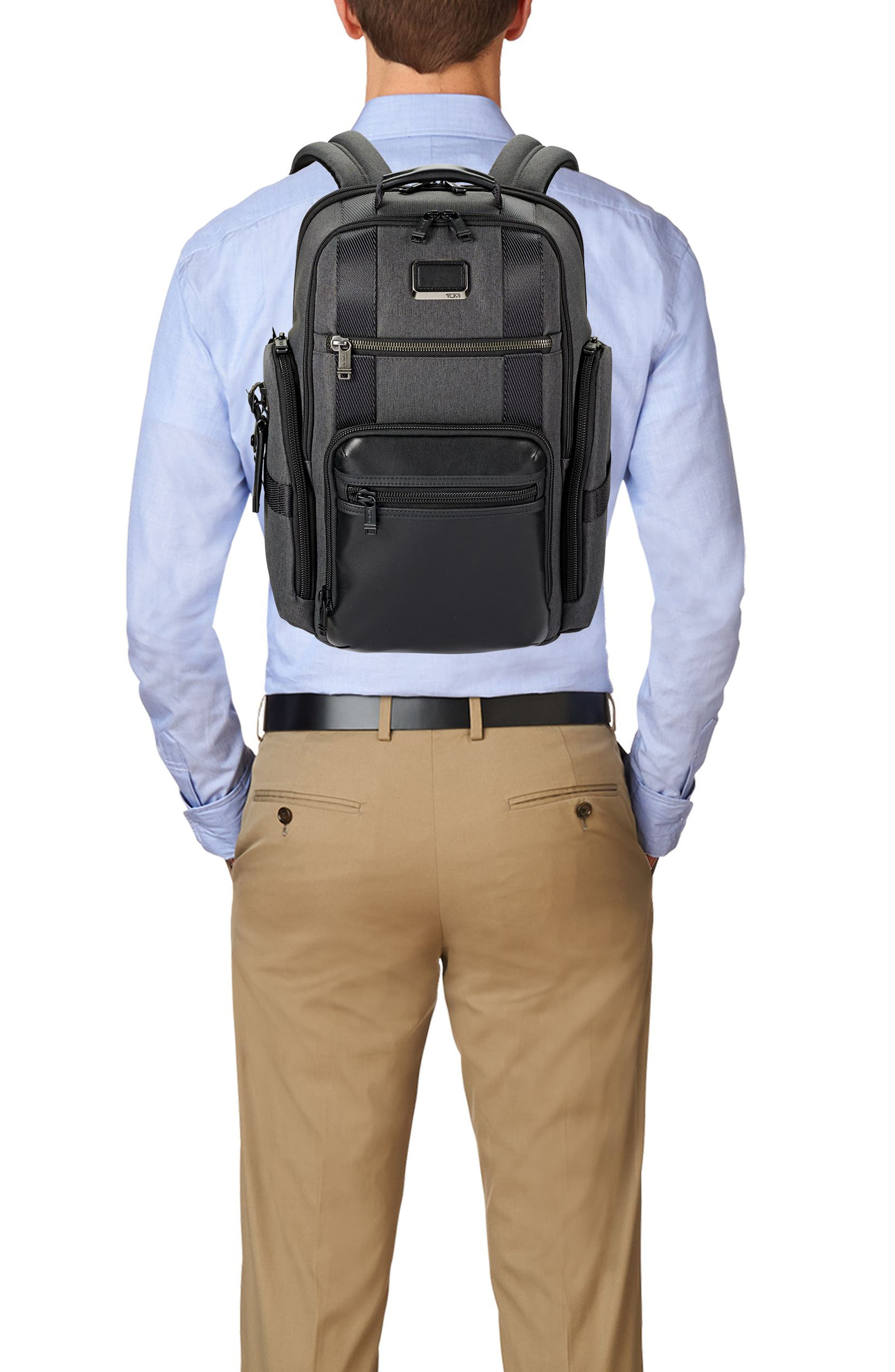Alpha Bravo - Sheppard Deluxe Backpack,                             Alternate thumbnail 6, color,                             ANTHRACITE