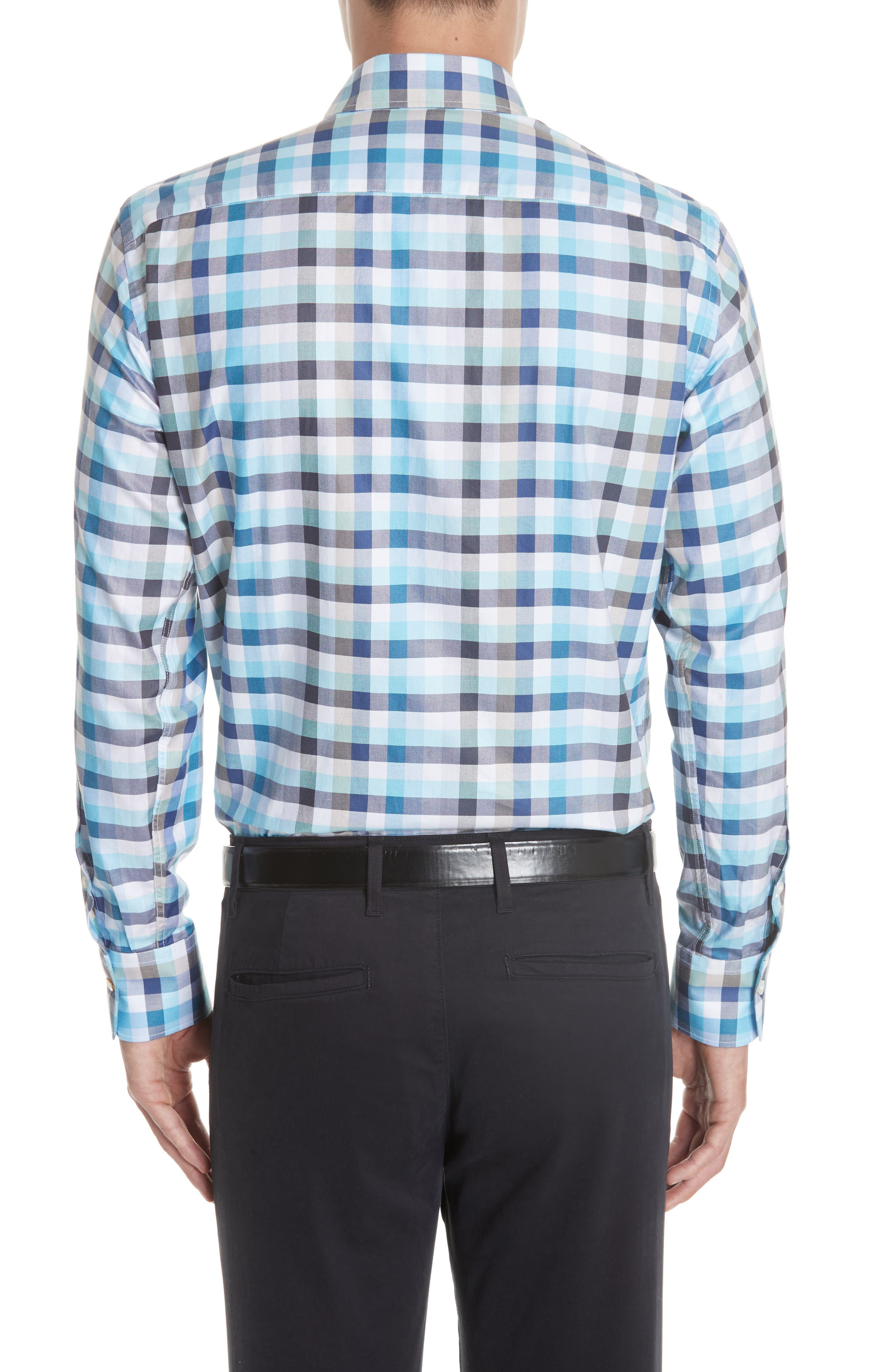 Regular Fit Check Sport Shirt,                             Alternate thumbnail 3, color,