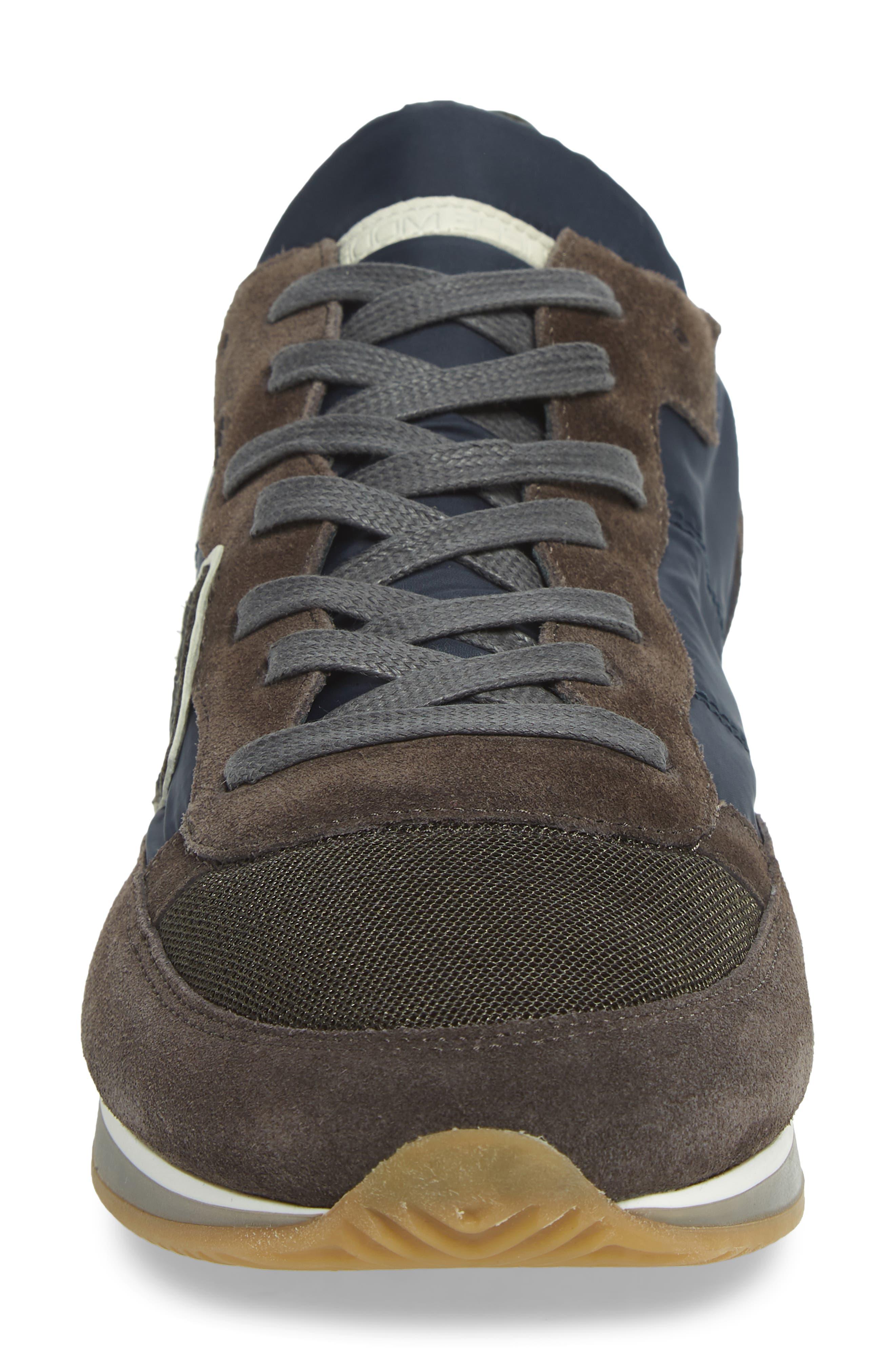 Tropez Low Top Sneaker,                             Alternate thumbnail 4, color,                             BLUE/ GREY