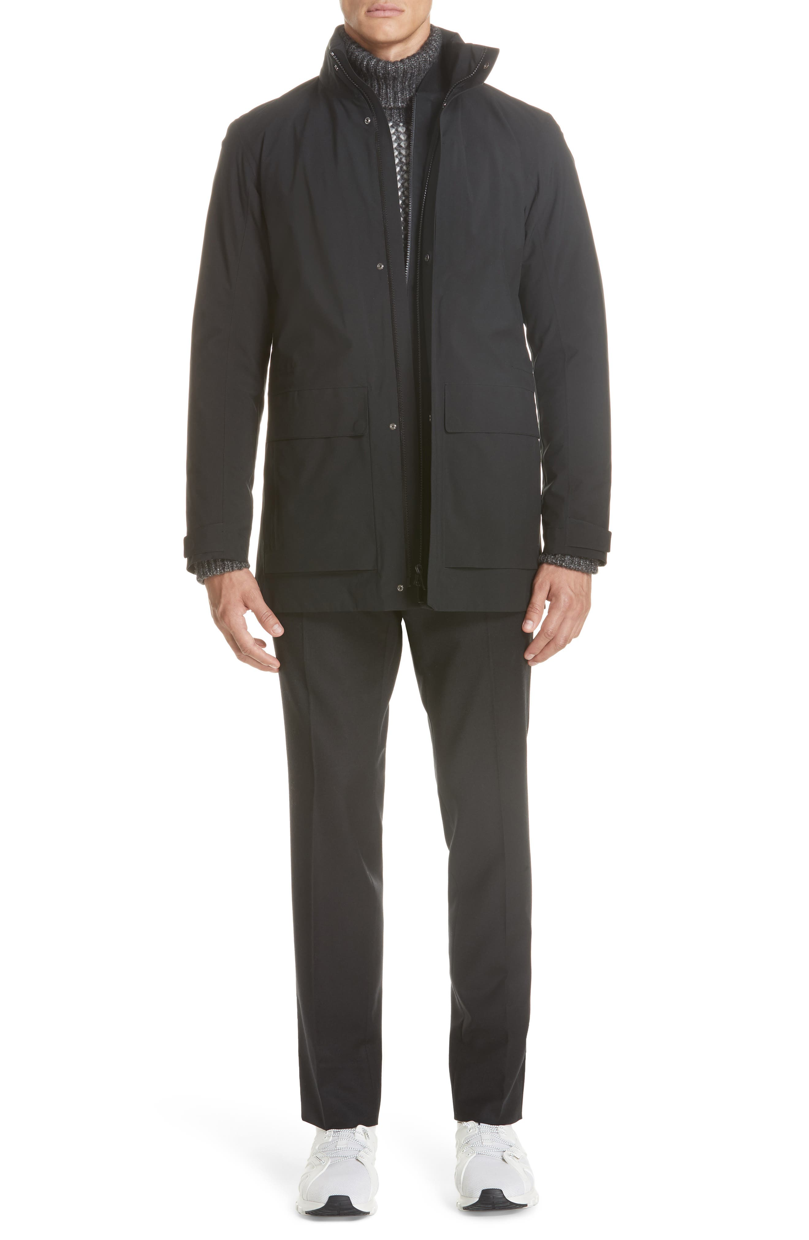 Z Zenga Trim Fit 3-in-1 Jacket,                             Alternate thumbnail 8, color,                             BLACK
