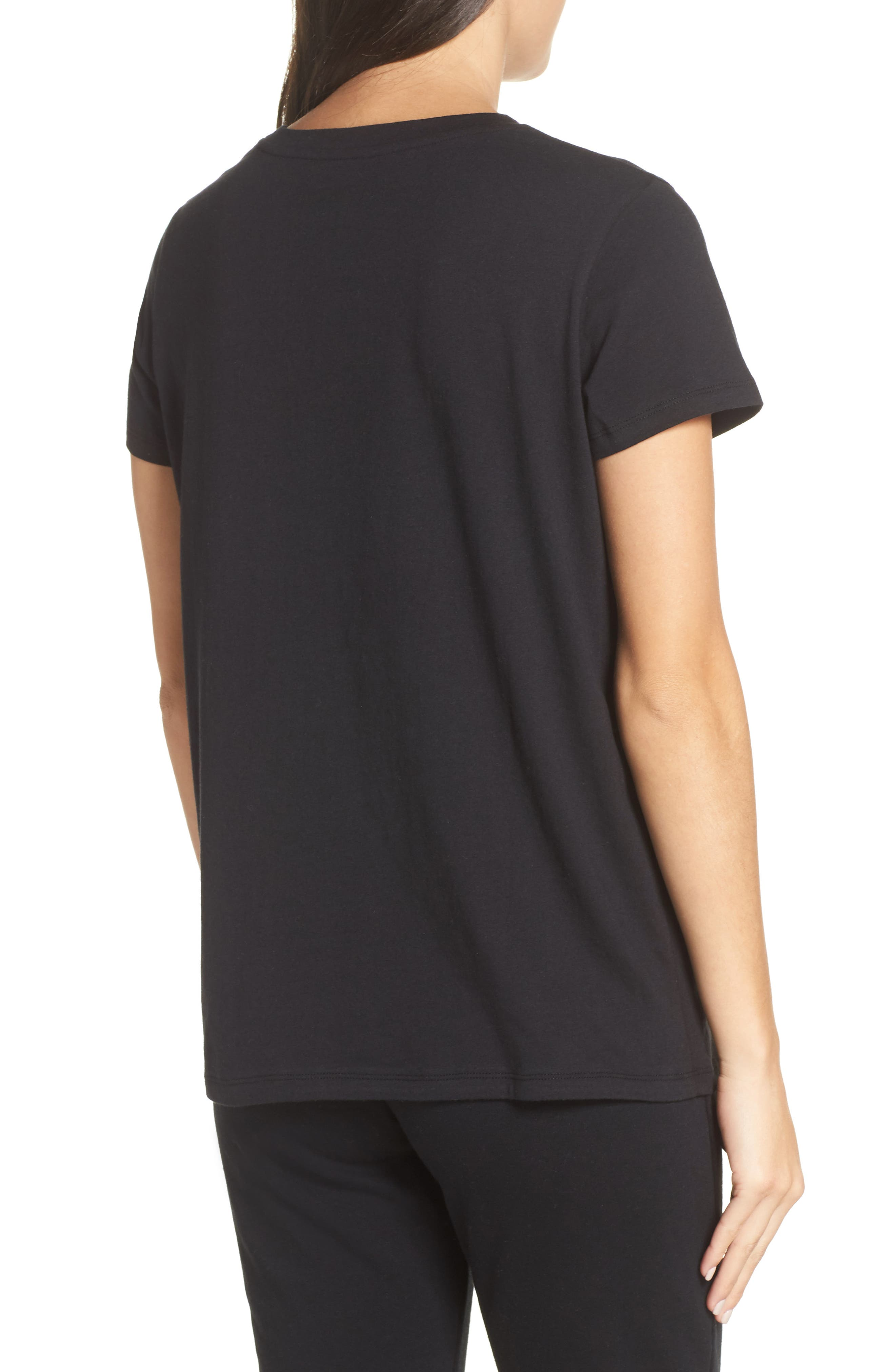 Queen Off Duty Tee,                             Alternate thumbnail 2, color,                             BLACK