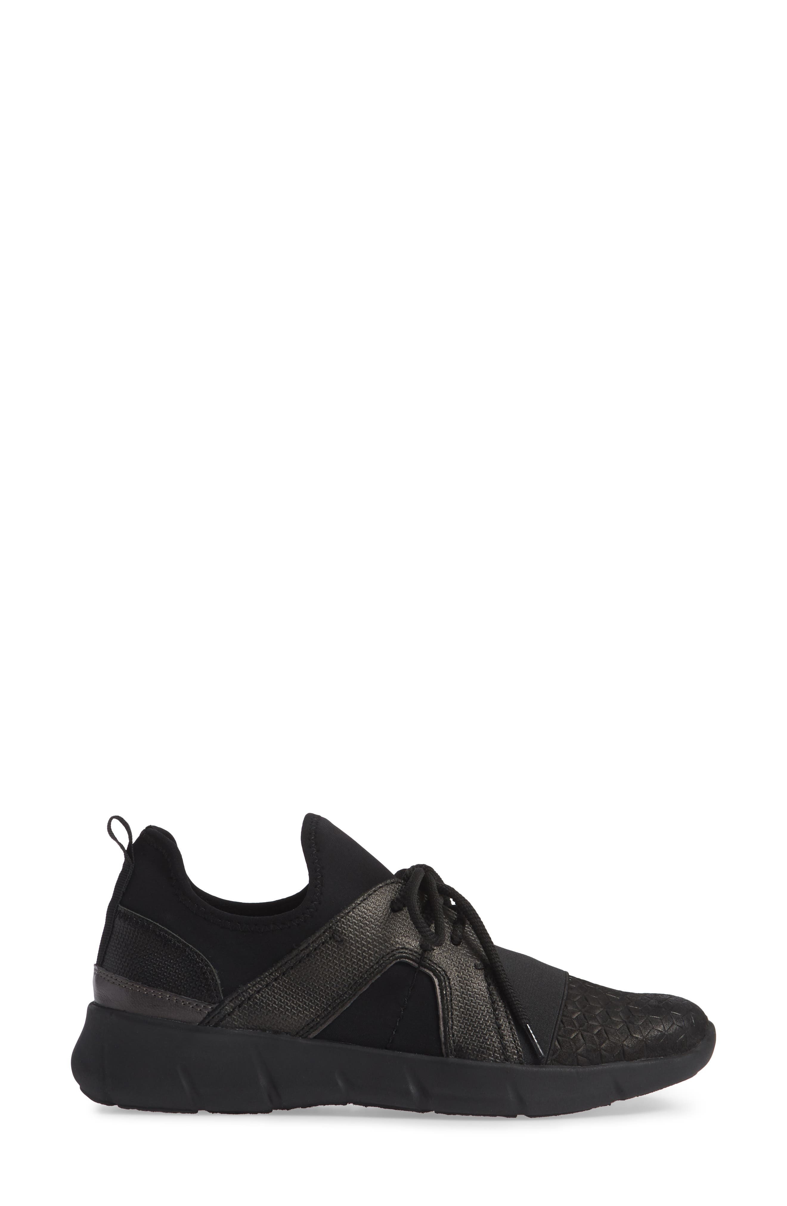 Transfer Sneaker,                             Alternate thumbnail 3, color,                             BLACK