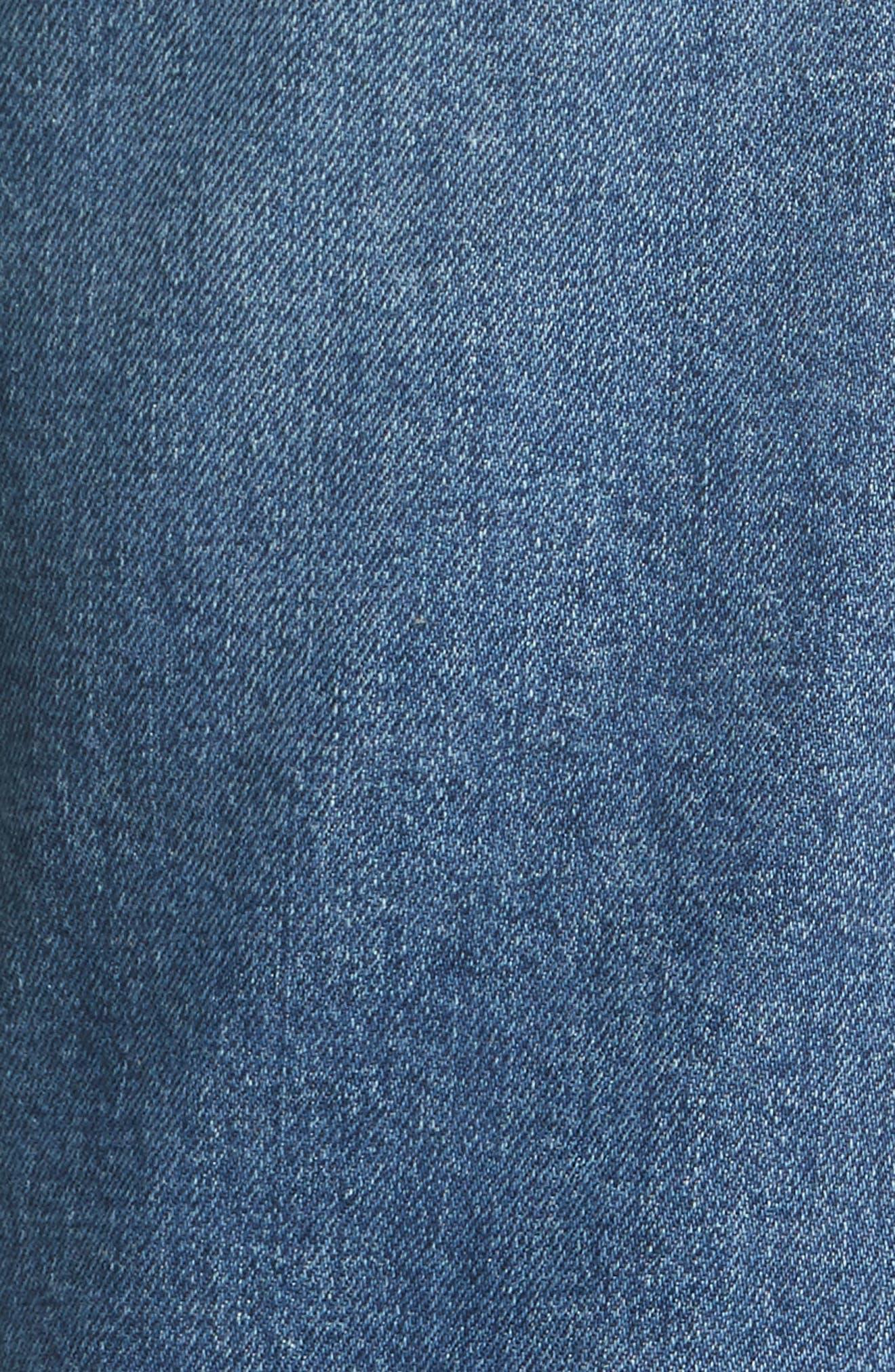 River Slim Taper Jeans,                             Alternate thumbnail 5, color,                             MID BLUE
